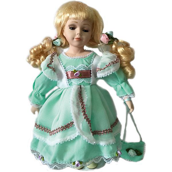 Фарфоровая кукла Элли, 30 см, Angel CollectionБренды кукол<br>Фарфоровая кукла Элли, 30 см, Angel Collection.<br><br>Характеристики:<br><br>• Высота куклы: 30 см.<br>• Материал: фарфор, текстиль<br>• Упаковка: картонная коробка блистерного типа<br><br>Фарфоровая кукла «Элли», Angel Collection изготовлена с большим вниманием к мелким деталям, благодаря этому она очень красива и привлекательна. У Элли светлые волосы, собранные в два хвостика и ангельское кукольное личико. На кукле надето нежное платье салатового цвета. На ногах у Элли - ботиночки, в руках -сумочка. Кукла установлена на специальную подставку. <br><br>Фарфоровая красавица Элли - это не просто игрушка, а также украшение для интерьера или ценный экспонат коллекции. Каждая кукла в серии Angel Collection, обладает неповторимым образом - принцессы, феи, маленькие девочки, роскошные невесты и т.д. Изысканные наряды и очаровательная матовость фарфора превращают этих кукол в настоящее произведение искусства. Куклы Angel Collection сделаны из уникальной голубой глины, добываемой только в провинции Tai-Nan Shin, Тайвань.<br><br>Фарфоровую куклу Элли, 30 см, Angel Collection можно купить в нашем интернет-магазине.<br><br>Ширина мм: 120<br>Глубина мм: 320<br>Высота мм: 80<br>Вес г: 417<br>Возраст от месяцев: 36<br>Возраст до месяцев: 2147483647<br>Пол: Женский<br>Возраст: Детский<br>SKU: 5400289