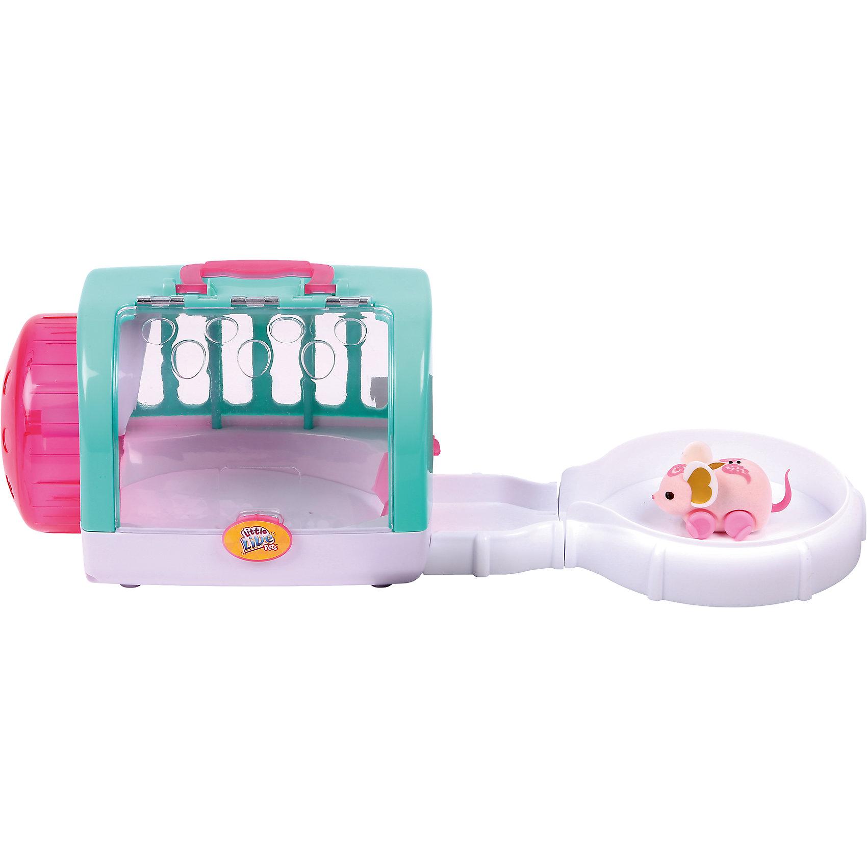 Мышка с домиком Angel Dancer, Little Live Pets, MooseИнтерактивные животные<br>Характеристики товара:<br><br>• возраст от 5 лет;<br>• материал: пластик, флок;<br>• в комплекте: мышка, домик, 3 батарейки;<br>• работает от 3 батареек LR44 (в комплекте);<br>• размер упаковки 19х17х23,5 см;<br>• вес упаковки 400 гр.;<br>• страна производитель: Китай.<br><br>Мышка с домиком Moose Little Live Pets «Angel Dancer» - оригинальный маленький питомец, который умеет двигаться, пищать и издавать звуки. Головка и спинка розовой мышки украшены узорами. Чтобы мышка начала движение, надо просто ее погладить. Когда мышка остается одна, она засыпает и отключается автоматически. В наборе домик с ручками, который может служить домиком для мышки или переноской, если ребенок захочет взять мышку с собой на прогулку или в гости. Домик раскладывается, образуя настоящий трек для перемещений мышки.<br><br>Мышку с домиком Moose Little Live Pets «Angel Dancer» можно приобрести в нашем интернет-магазине.<br><br>Ширина мм: 256<br>Глубина мм: 187<br>Высота мм: 203<br>Вес г: 636<br>Возраст от месяцев: 60<br>Возраст до месяцев: 108<br>Пол: Унисекс<br>Возраст: Детский<br>SKU: 5400755