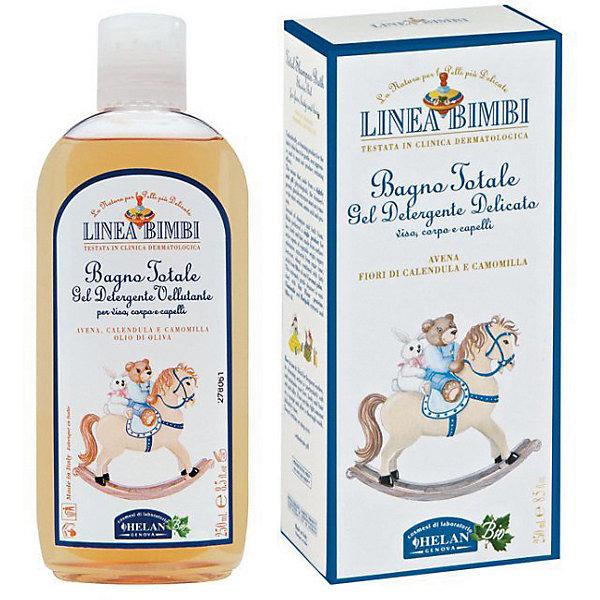 Шампунь-гель детский для волос и тела Linea Bimbi, 250 мл., HELANДетские шампуни<br>Шампунь-гель детский для волос и тела Linea Bimbi, 250 мл., HELAN (Хелан)<br><br>Характеристики:<br><br>• бережно очищает волосы и кожу ребенка<br>• сохраняет естественный уровень pH<br>• успокаивает кожу головы<br>• питает и укрепляет волосы<br>• не вызывает раздражения слизистой глаз<br>• не содержит консерванты и сульфаты<br>• активные компоненты: экстракт свеклы, экстракт пшеницы, экстракт сахарного тростника, масло овса, масло кокоса, экстракт ромашки, экстракт календулы<br>• объем: 250 мл<br>• размер упаковки: 17х9х5 см<br>• вес: 360 грамм<br><br>Шампунь-гель Linea Bimbi подходит для очищения волос и кожи головы с самого рождения. Шампунь сохраняет естественный уровень pH, питает и укрепляет волосы, а также успокаивает кожу головы. Щадящее действие шампуня позволяет сохранить защитный слой кожи малыша. Не вызывает раздражения при попадании в глаза. Активные компоненты шампуня получены из растений, которые были выращены без применения пестицидов и других вредных химикатов.<br><br>Шампунь-гель детский для волос и тела Linea Bimbi, 250 мл., HELAN (Хелан) можно купить в нашем интернет-магазине.<br><br>Ширина мм: 50<br>Глубина мм: 90<br>Высота мм: 170<br>Вес г: 360<br>Возраст от месяцев: -2147483648<br>Возраст до месяцев: 2147483647<br>Пол: Унисекс<br>Возраст: Детский<br>SKU: 5401697