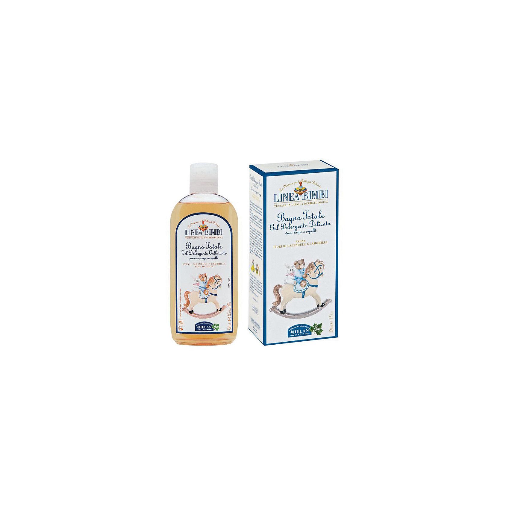 Шампунь-гель детский для волос и тела Linea Bimbi, 250 мл., HELANСредства защиты от солнца и насекомых<br>Шампунь-гель детский для волос и тела Linea Bimbi, 250 мл., HELAN (Хелан)<br><br>Характеристики:<br><br>• бережно очищает волосы и кожу ребенка<br>• сохраняет естественный уровень pH<br>• успокаивает кожу головы<br>• питает и укрепляет волосы<br>• не вызывает раздражения слизистой глаз<br>• не содержит консерванты и сульфаты<br>• активные компоненты: экстракт свеклы, экстракт пшеницы, экстракт сахарного тростника, масло овса, масло кокоса, экстракт ромашки, экстракт календулы<br>• объем: 250 мл<br>• размер упаковки: 17х9х5 см<br>• вес: 360 грамм<br><br>Шампунь-гель Linea Bimbi подходит для очищения волос и кожи головы с самого рождения. Шампунь сохраняет естественный уровень pH, питает и укрепляет волосы, а также успокаивает кожу головы. Щадящее действие шампуня позволяет сохранить защитный слой кожи малыша. Не вызывает раздражения при попадании в глаза. Активные компоненты шампуня получены из растений, которые были выращены без применения пестицидов и других вредных химикатов.<br><br>Шампунь-гель детский для волос и тела Linea Bimbi, 250 мл., HELAN (Хелан) можно купить в нашем интернет-магазине.<br><br>Ширина мм: 50<br>Глубина мм: 90<br>Высота мм: 170<br>Вес г: 360<br>Возраст от месяцев: -2147483648<br>Возраст до месяцев: 2147483647<br>Пол: Унисекс<br>Возраст: Детский<br>SKU: 5401697