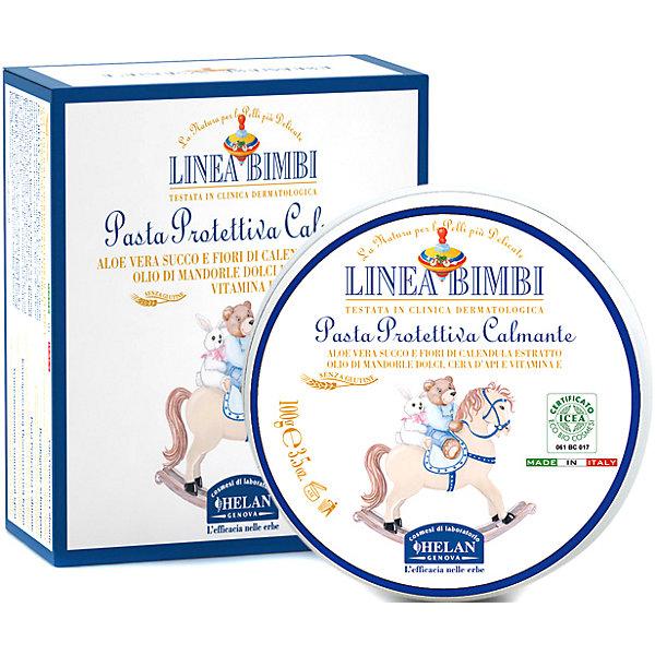 Крем увлажняющий и защищающий для зоны пеленания Linea Bimbi, 100 мл., HELANКосметика для малыша<br>Крем увлажняющий и защищающий для зоны пеленания Linea Bimbi, 100 мл., HELAN (Хелан)<br><br>Характеристики:<br><br>• защищает от раздражения при использовании подгузников<br>• смягчает и питает кожу<br>• поддерживает естественный баланс кожи<br>• защищает от негативных внешних воздействий<br>• подходит для чувствительной кожи<br>• активные компоненты: экстракт календулы, сок алоэ-вера, масло сладкого миндаля, пчелиный воск, витамин Е<br>• объем: 100 мл<br>• размер упаковки: 10х10х5 см<br>• вес: 204 грамма<br><br>При использовании подгузников у малышей нередко возникает раздражение на коже. Защитный крем Linea Bimbi поможет вам защитить кожу малыша. Он бережно смягчает и питает кожу ребёнка, защищая её от внешнего воздействия. Активные компоненты на растительной основе обеспечивают нормальный уровень увлажнения. Крем подходит для детей с рождения, а также для сверхчувствительной кожи.<br><br>Крем увлажняющий и защищающий для зоны пеленания Linea Bimbi, 100 мл., HELAN (Хелан) можно купить в нашем интернет-магазине.<br><br>Ширина мм: 50<br>Глубина мм: 100<br>Высота мм: 100<br>Вес г: 204<br>Возраст от месяцев: -2147483648<br>Возраст до месяцев: 2147483647<br>Пол: Унисекс<br>Возраст: Детский<br>SKU: 5401702