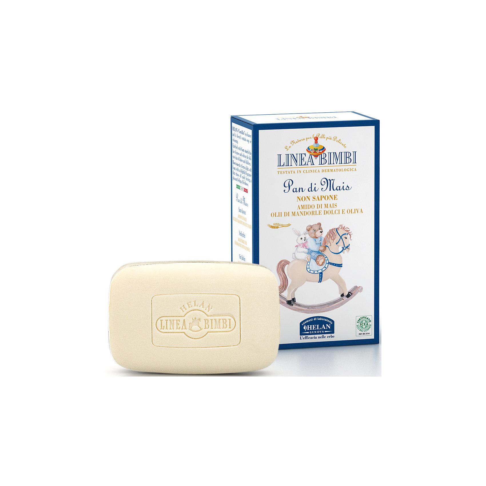 Мыло детское органическое без щелочи Linea Bimbi, 100 гр., HELANДетское мыло<br>Мыло детское органическое без щелочи Linea Bimbi, 100 гр., HELAN (Хелан)<br><br>Характеристики:<br><br>• бережно очищает кожу<br>• нейтральный pH уровень<br>• смягчает и питает кожу<br>• не содержит  синтетических компонентов и мылящих веществ, парабенов, красителей, тяжелых металлов<br>• активные компоненты: масло оливы, масло сладкого миндаля, кукурузный крахмал<br>• объем: 100 грамм<br>• размер упаковки: 10х3,5х6 см<br>• вес: 116 грамм<br><br>Детское мыло Linea Bimbi с компонентами растительного происхождения имеет нейтральный уровень pH, что позволяет использовать его даже для чувствительной коже, склонной к раздражениям. Масла оливы и сладкого миндаля смягчают и питают кожу, придавая ей свежесть. Мыло не содержит синтетические компоненты, парабены, тяжелые металлы и друге вредные вещества.<br><br>Мыло детское органическое без щелочи Linea Bimbi, 100 гр., HELAN (Хелан) вы можете купить в нашем интернет-магазине.<br><br>Ширина мм: 60<br>Глубина мм: 35<br>Высота мм: 100<br>Вес г: 116<br>Возраст от месяцев: -2147483648<br>Возраст до месяцев: 2147483647<br>Пол: Унисекс<br>Возраст: Детский<br>SKU: 5401711