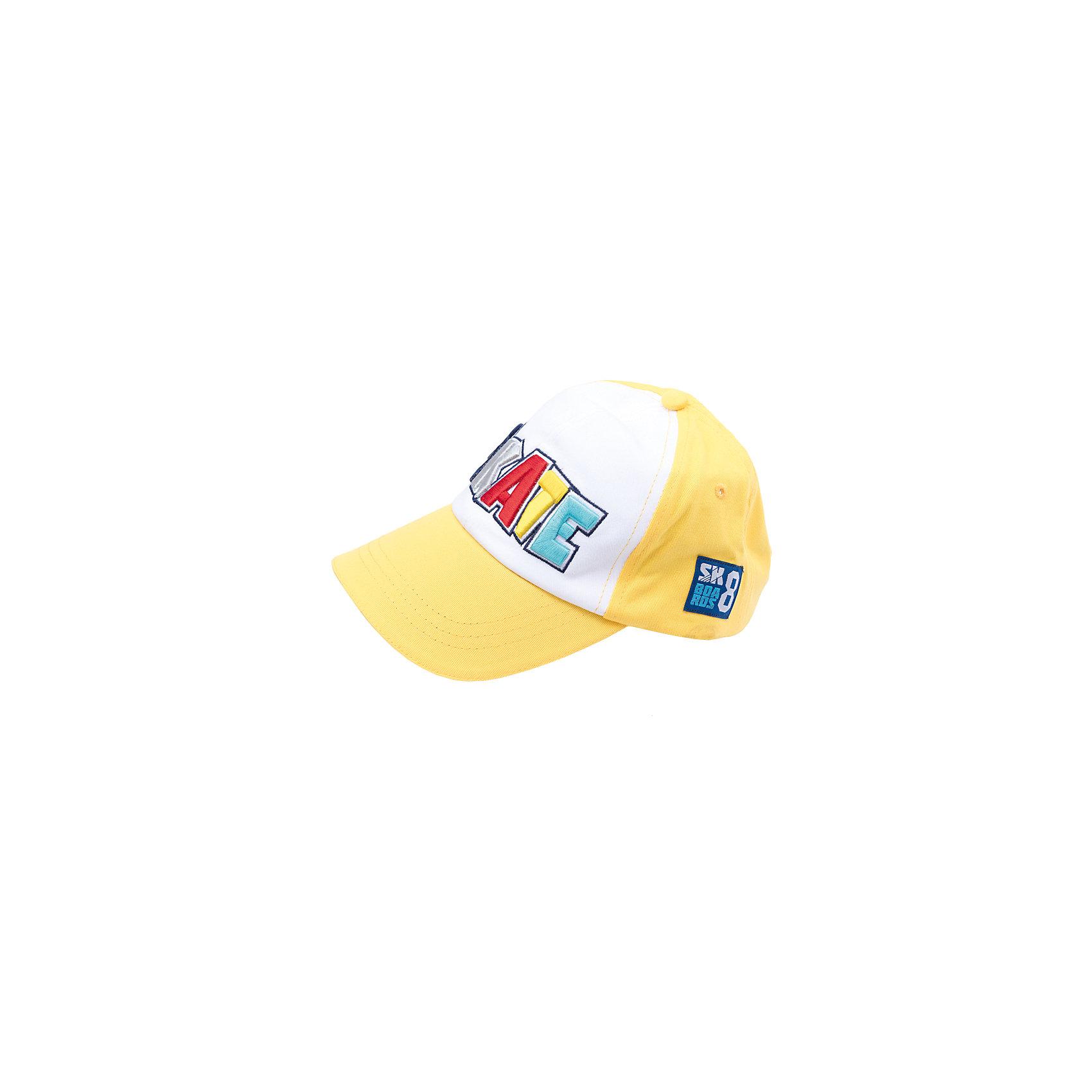 Кепка для мальчика PlayTodayСицилия<br>Кепка для мальчика PlayToday<br>Модная кепка - бейсболка из натурального хлопка  понравится Вашему ребенку и защитит в солнечную погоду. Модель с эффектной аппликацией<br>Состав:<br>100% хлопок<br><br>Ширина мм: 89<br>Глубина мм: 117<br>Высота мм: 44<br>Вес г: 155<br>Цвет: желтый<br>Возраст от месяцев: 24<br>Возраст до месяцев: 36<br>Пол: Мужской<br>Возраст: Детский<br>Размер: 50,54,52<br>SKU: 5401897