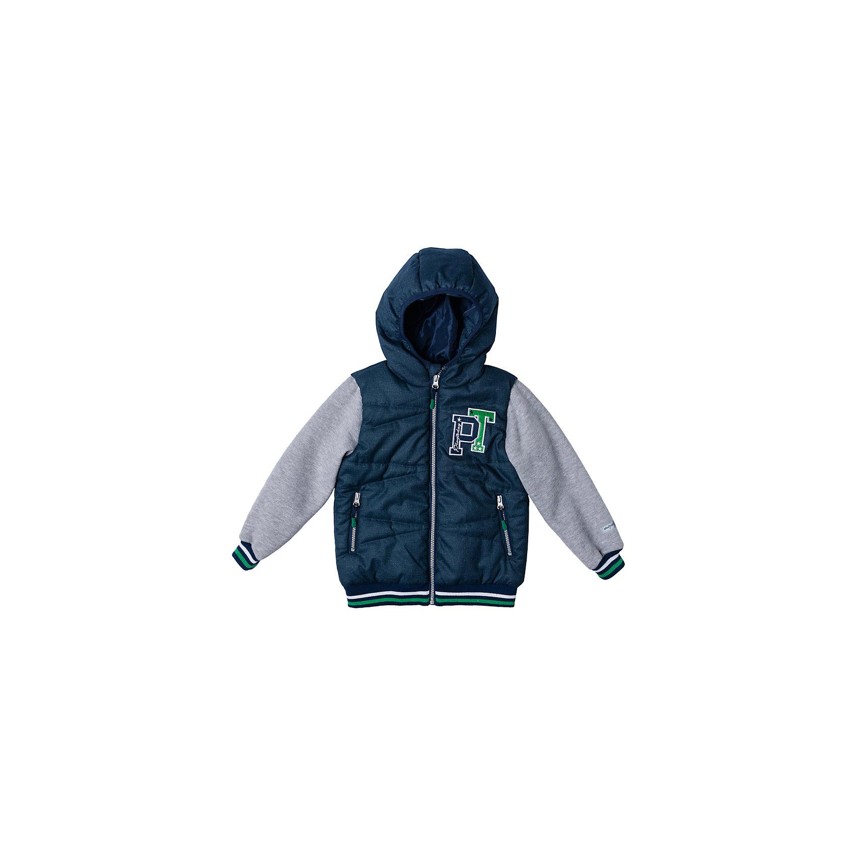 Куртка для мальчика PlayTodayВерхняя одежда<br>Куртка для мальчика PlayToday<br>Эффектная утепленная куртка с капюшоном на молнии прекрасно подойдет Вашему ребенку в прохладную погоду. Специальный карман для фиксации застежки-молнии не позволит застежке травмировать нежную кожу ребенка. Даже у самого активного ребенка капюшон не спадет с головы за счет удобной мягкой резинки. Наличие светооражателя на подоле позволит видеть Вашего ребенка в темное время суток. За счет рукавов из текстиля с начесом, такая куртка будет уместна и в прохладную погоду. Куртка украшена яркой аппликацией. <br><br>Преимущества: <br><br>Защита подбородка. Специальный карман для фиксации застежки-молнии. Наличие данного кармана не позволит застежке -молнии травмировать нежную кожу ребенка<br>Капюшон на мягкой резинке <br>Светооражатель на подоле <br>Карманы на молнии <br>Рукава с начесом <br>Водоотталкивающая пропитка (кроме рукавов) <br>Яркая аппликация <br><br>Состав:<br>Верх: 100% полиэстер, Подкладка: 100% полиэстер, Наполнитель: 100% полиэстер, 150 г/м2<br><br>Ширина мм: 356<br>Глубина мм: 10<br>Высота мм: 245<br>Вес г: 519<br>Цвет: белый<br>Возраст от месяцев: 60<br>Возраст до месяцев: 72<br>Пол: Мужской<br>Возраст: Детский<br>Размер: 128,98,104,110,116,122<br>SKU: 5401901