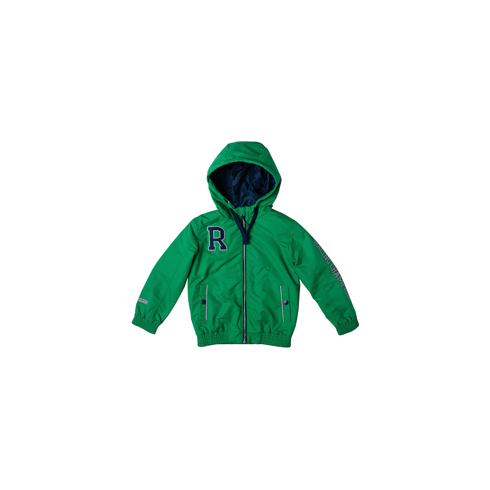 Куртка для мальчика PlayTodayВерхняя одежда<br>Характеристики товара:<br><br>• цвет: зеленый<br>• состав: 100% полиэстер, подкладка: 100% полиэстер<br>• без утеплителя<br>• температурный режим: от +10°С до +20°С<br>• декорирована вышивкой<br>• карманы<br>• защита подбородка<br>• молния<br>• эластичные манжеты<br>• светоотражающие элементы<br>• капюшон<br>• коллекция: весна-лето 2017<br>• страна бренда: Германия<br>• страна производства: Китай<br><br>Популярный бренд PlayToday выпустил новую коллекцию! Вещи из неё продолжают радовать покупателей удобством, стильным дизайном и продуманным кроем. Дети носят их с удовольствием. PlayToday - это линейка товаров, созданная специально для детей. Дизайнеры учитывают новые веяния моды и потребности детей. Порадуйте ребенка обновкой от проверенного производителя!<br>Такая демисезонная куртка обеспечит ребенку комфорт благодаря качественному материалу и продуманному крою. С помощью этой модели можно удобно одеться по погоде. Очень модная модель! Отлично подходит для переменной погоды межсезонья.<br><br>Куртку для мальчика от известного бренда PlayToday можно купить в нашем интернет-магазине.<br><br>Ширина мм: 356<br>Глубина мм: 10<br>Высота мм: 245<br>Вес г: 519<br>Цвет: белый<br>Возраст от месяцев: 84<br>Возраст до месяцев: 96<br>Пол: Мужской<br>Возраст: Детский<br>Размер: 128,98,104,110,116,122<br>SKU: 5401908