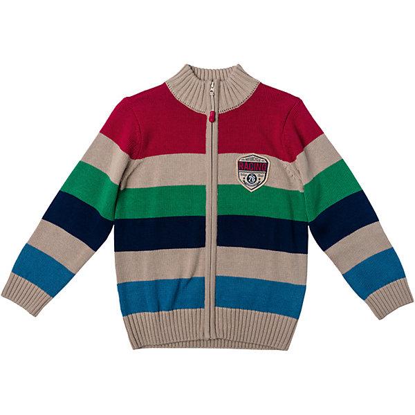 Кардиган для мальчика PlayTodayСвитера и кардиганы<br>Характеристики товара:<br><br>• цвет: разноцветный<br>• состав: 60% хлопок, 40% акрил<br>• изготовлен методом yarn dyed, долго выглядит как новый<br>• декорирован аппликацией<br>• молния<br>• эластичные манжеты<br>• резинка по низу<br>• комфортная посадка<br>• коллекция: весна-лето 2017<br>• страна бренда: Германия<br>• страна производства: Китай<br><br>Популярный бренд PlayToday выпустил новую коллекцию! Вещи из неё продолжают радовать покупателей удобством, стильным дизайном и продуманным кроем. Дети носят их с удовольствием. PlayToday - это линейка товаров, созданная специально для детей. Дизайнеры учитывают новые веяния моды и потребности детей. Порадуйте ребенка обновкой от проверенного производителя!<br>Такая стильная модель обеспечит ребенку комфорт благодаря качественному материалу и продуманному крою. С помощью неё можно удобно одеться по погоде. Очень модная вещь! Отлично подходит для переменной погоды межсезонья.<br><br>Кардиган для мальчика от известного бренда PlayToday можно купить в нашем интернет-магазине.<br><br>Ширина мм: 190<br>Глубина мм: 74<br>Высота мм: 229<br>Вес г: 236<br>Цвет: белый<br>Возраст от месяцев: 36<br>Возраст до месяцев: 48<br>Пол: Мужской<br>Возраст: Детский<br>Размер: 104,110,98,128,122,116<br>SKU: 5401929