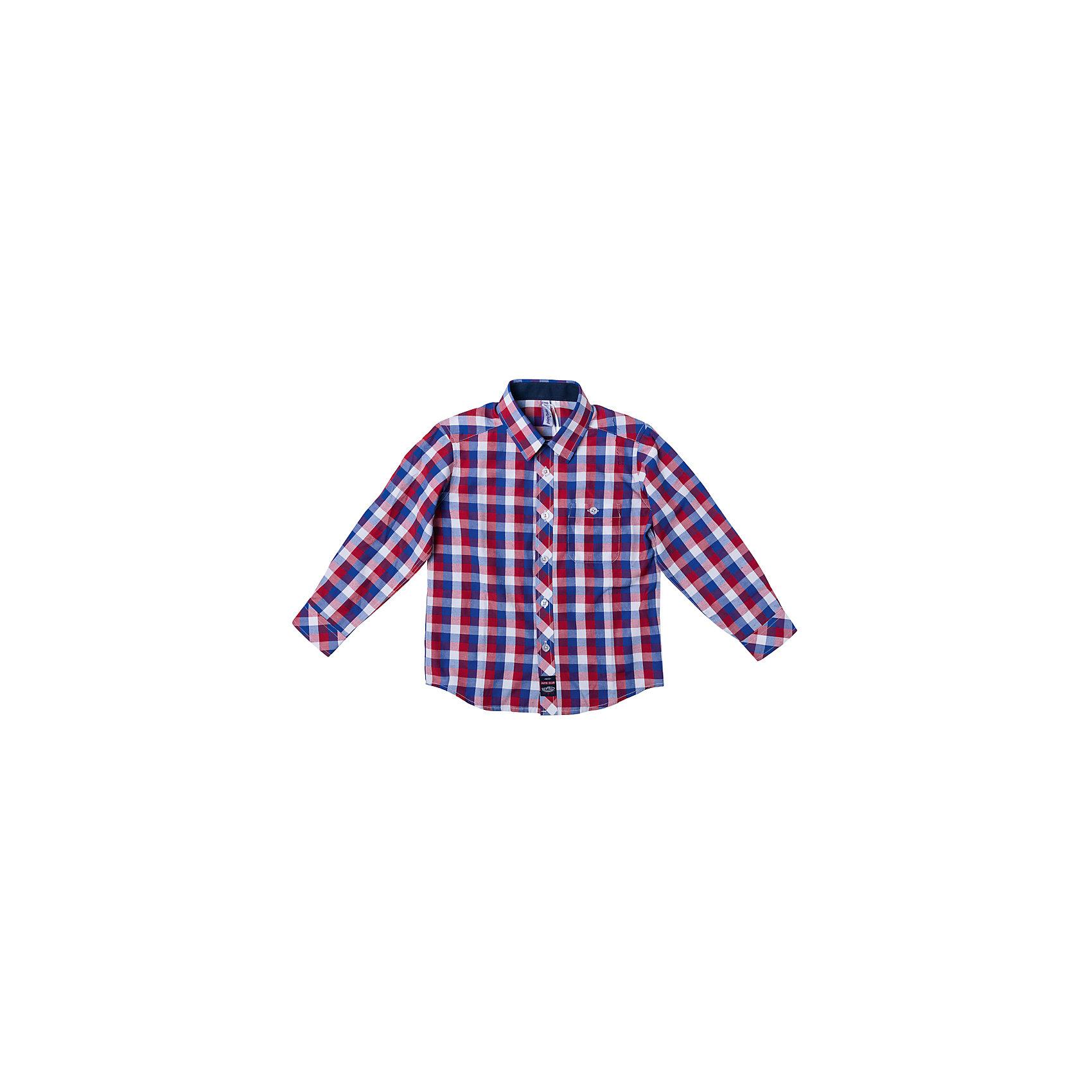 Рубашка для мальчика PlayTodayБлузки и рубашки<br>Рубашка для мальчика PlayToday<br>Эффектная сорочка для мальчика в стиле кантри.  Практична и очень удобна для повседневной носки. Ткань  мягкая и приятная на ощупь, не раздражает нежную детскую кожу. Стиль отвечает всем последним тенденциям детской моды.  Рубашка с отложным воротничком и накладным карманом на пуговице. Даже в самой активной игре  Ваш ребенок будет всегда иметь аккуратный вид. <br><br>Преимущества: <br><br>Качественная тонкая ткань не раздражает нежную кожу ребенка<br>Отложной воротник и карман на пуговице<br>Уплотненные манжеты<br><br>Состав:<br>80% хлопок, 20% полиэстер<br><br>Ширина мм: 174<br>Глубина мм: 10<br>Высота мм: 169<br>Вес г: 157<br>Цвет: разноцветный<br>Возраст от месяцев: 84<br>Возраст до месяцев: 96<br>Пол: Мужской<br>Возраст: Детский<br>Размер: 128,98,104,110,116,122<br>SKU: 5401936