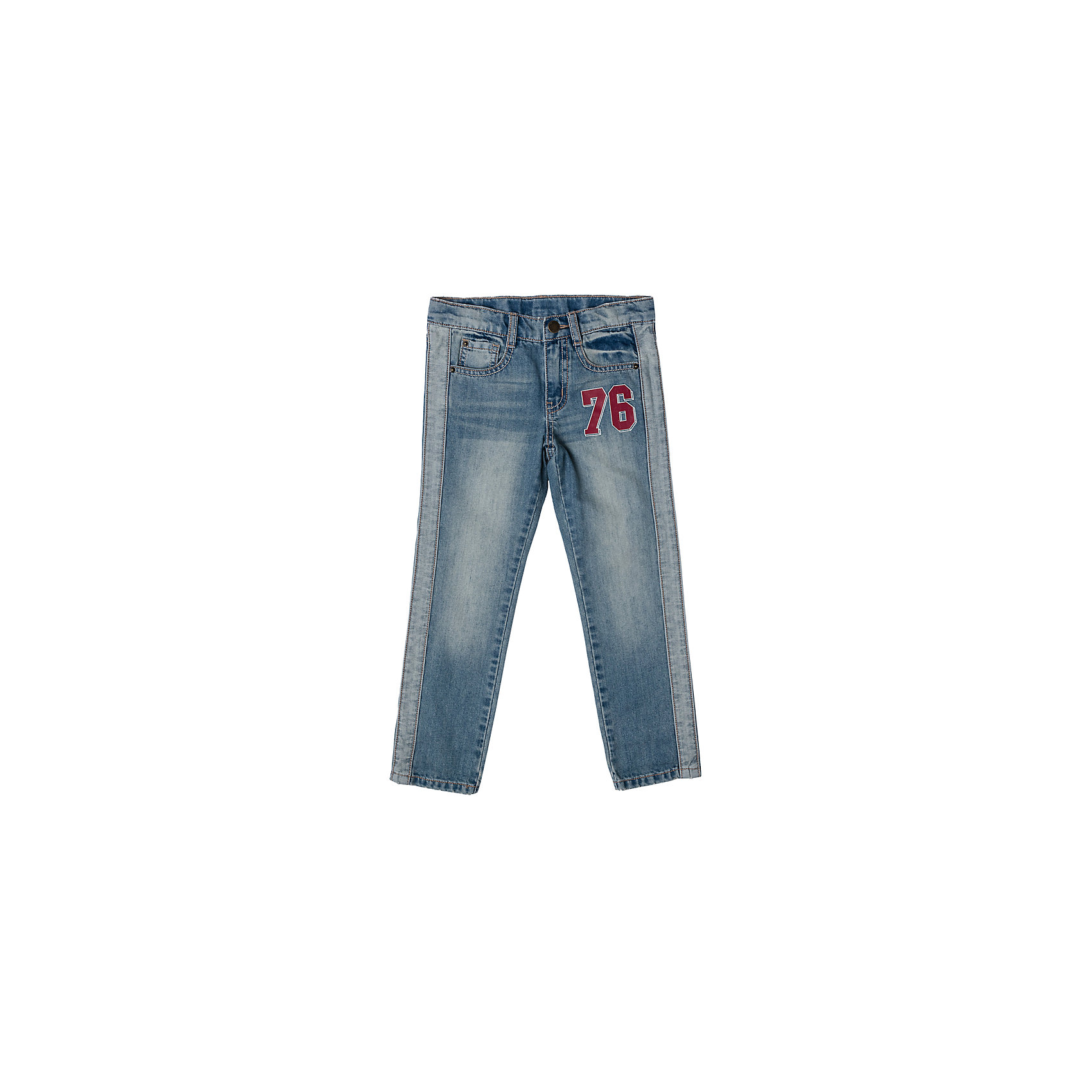 Джинсы для мальчика PlayTodayДжинсы<br>Джинсы для мальчика PlayToday<br>Стильные эффектные брюки из джинсовой ткани с ярким принтом и эффектом потертости прекрасно подойдут для повседневной носки. Удобны для длительных прогулок на свежем воздухе. Модель снабжена 5-ю полноценными карманами. Пояс со шлевками, при необходимости можно использовать ремень. Джинсы застегиваются на скрытую застежку-молнию и металлическую пуговицу <br><br>Преимущества: <br><br>Пояс со шлевками, при необходимости можно использовать ремень<br>Модель снабжена 5-ю полноценными карманами<br>Скрытая застежка - молния и металлическая пуговица<br><br>Состав:<br>80% хлопок, 20% полиэстер<br><br>Ширина мм: 215<br>Глубина мм: 88<br>Высота мм: 191<br>Вес г: 336<br>Цвет: разноцветный<br>Возраст от месяцев: 48<br>Возраст до месяцев: 60<br>Пол: Мужской<br>Возраст: Детский<br>Размер: 110,116,122,128,98,104<br>SKU: 5401943