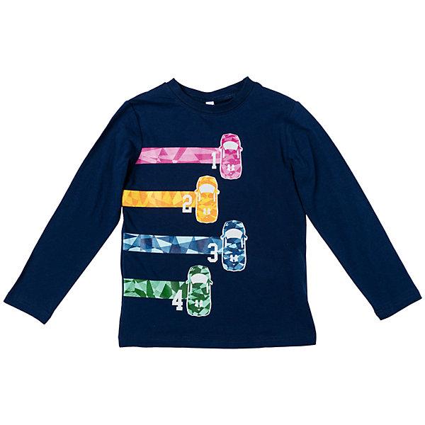 Футболка с длинным рукавом для мальчика PlayTodayФутболки с длинным рукавом<br>Характеристики товара:<br><br>• цвет: синий<br>• состав: 95% хлопок, 5% эластан<br>• декорирована принтом<br>• эластичный трикотаж<br>• дышащий материал<br>• с длинным рукавом<br>• мягкая обработка краев<br>• комфортная посадка<br>• коллекция: весна-лето 2017<br>• страна бренда: Германия<br>• страна производства: Китай<br><br>Популярный бренд PlayToday выпустил новую коллекцию! Вещи из неё продолжают радовать покупателей удобством, стильным дизайном и продуманным кроем. Дети носят их с удовольствием. PlayToday - это линейка товаров, созданная специально для детей. Дизайнеры учитывают новые веяния моды и потребности детей. Порадуйте ребенка обновкой от проверенного производителя!<br>Такая стильная модель обеспечит ребенку комфорт благодаря качественному материалу и продуманному крою. С помощью неё можно удобно одеться по погоде. Очень модная вещь! Симпатично выглядит и долго служит.<br><br>Футболку с длинным рукавом для мальчика от известного бренда PlayToday можно купить в нашем интернет-магазине.<br><br>Ширина мм: 230<br>Глубина мм: 40<br>Высота мм: 220<br>Вес г: 250<br>Цвет: белый<br>Возраст от месяцев: 24<br>Возраст до месяцев: 36<br>Пол: Мужской<br>Возраст: Детский<br>Размер: 98,128,122,116,110,104<br>SKU: 5401999