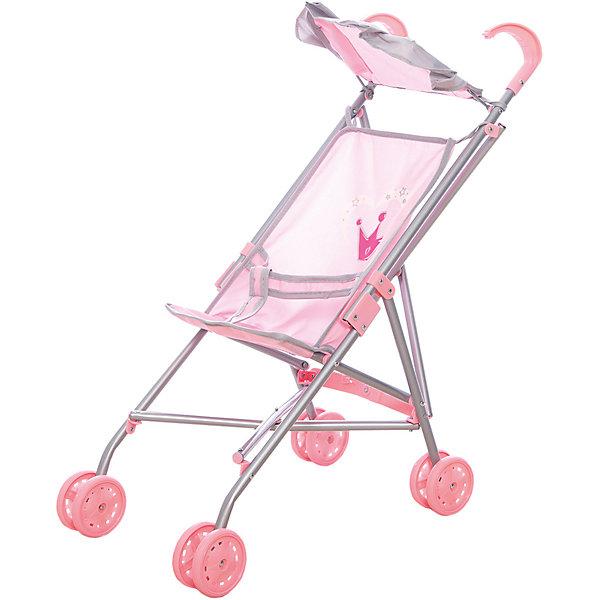 Коляска-трость для кукол Корона,  52*26*55 см, Mary PoppinsТранспорт и коляски для кукол<br>Коляска-трость для кукол Корона,  52*26*55 см, Mary Poppins.<br><br>Характеристики:<br><br>• Размер: 52х26х55 см.<br>• Цвет: розовый, серый<br>• Тканевый козырек<br>• Материал: текстиль, пластик<br><br>Коляска-трость Корона с тканевым козырьком подойдет для игры в дочки-матери! Юной и заботливой принцессе понравится катать любимую куклу в этой легкой колясочке. Ремни безопасности крепко фиксируют куклу. Коляска-трость легко складывается, в сложенном виде занимает мало места, поэтому ее удобно хранить. <br><br>Коляску-трость для кукол Корона,  52*26*55 см, Mary Poppins можно купить в нашем интернет-магазине.<br><br>Ширина мм: 100<br>Глубина мм: 140<br>Высота мм: 640<br>Вес г: 625<br>Возраст от месяцев: 24<br>Возраст до месяцев: 2147483647<br>Пол: Женский<br>Возраст: Детский<br>SKU: 5402746