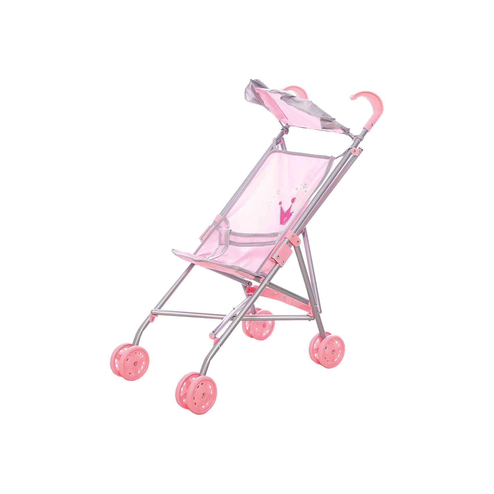 Коляска-трость для кукол Корона,  52*26*55 см, Mary PoppinsКоляски и транспорт для кукол<br>Коляска-трость для кукол Корона,  52*26*55 см, Mary Poppins.<br><br>Характеристики:<br><br>• Размер: 52х26х55 см.<br>• Цвет: розовый, серый<br>• Тканевый козырек<br>• Материал: текстиль, пластик<br><br>Коляска-трость Корона с тканевым козырьком подойдет для игры в дочки-матери! Юной и заботливой принцессе понравится катать любимую куклу в этой легкой колясочке. Ремни безопасности крепко фиксируют куклу. Коляска-трость легко складывается, в сложенном виде занимает мало места, поэтому ее удобно хранить. <br><br>Коляску-трость для кукол Корона,  52*26*55 см, Mary Poppins можно купить в нашем интернет-магазине.<br><br>Ширина мм: 100<br>Глубина мм: 140<br>Высота мм: 640<br>Вес г: 625<br>Возраст от месяцев: 24<br>Возраст до месяцев: 2147483647<br>Пол: Женский<br>Возраст: Детский<br>SKU: 5402746