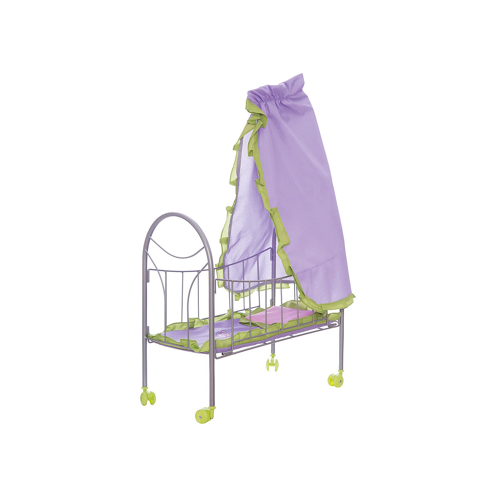 Кроватка для куклы с балдахином Бабочки, 47*27*76 см, Mary PoppinsДомики и мебель<br>Кроватка для куклы с балдахином Бабочки, 47*27*76 см, Mary Poppins.<br><br>Характеристики:<br><br>• Комплектация: кроватка, балдахин, комплект постельного белья<br>• Размер: 47х27х76 см.<br>• Материал: металл, текстиль, пластик<br><br>Отличительными особенностями кроватки для кукол Бабочки являются легкость конструкции и мобильность. Она оснащена колесиками, поэтому ее удобно перемещать по комнате. В наборе с кроватью есть комплект постельного белья и балдахин, украшенный рюшами. Кроватка отлично подойдет для сюжетно-ролевых игр в «дочки-матери». Игры с куклами благоприятно влияют на социализацию и полноценное формирование психики ребенка, учат эмоциональной отзывчивости.<br><br>Кроватку для куклы с балдахином Бабочки, 47*27*76 см, Mary Poppins можно купить в нашем интернет-магазине.<br><br>Ширина мм: 460<br>Глубина мм: 65<br>Высота мм: 280<br>Вес г: 1517<br>Возраст от месяцев: 24<br>Возраст до месяцев: 2147483647<br>Пол: Женский<br>Возраст: Детский<br>SKU: 5402749