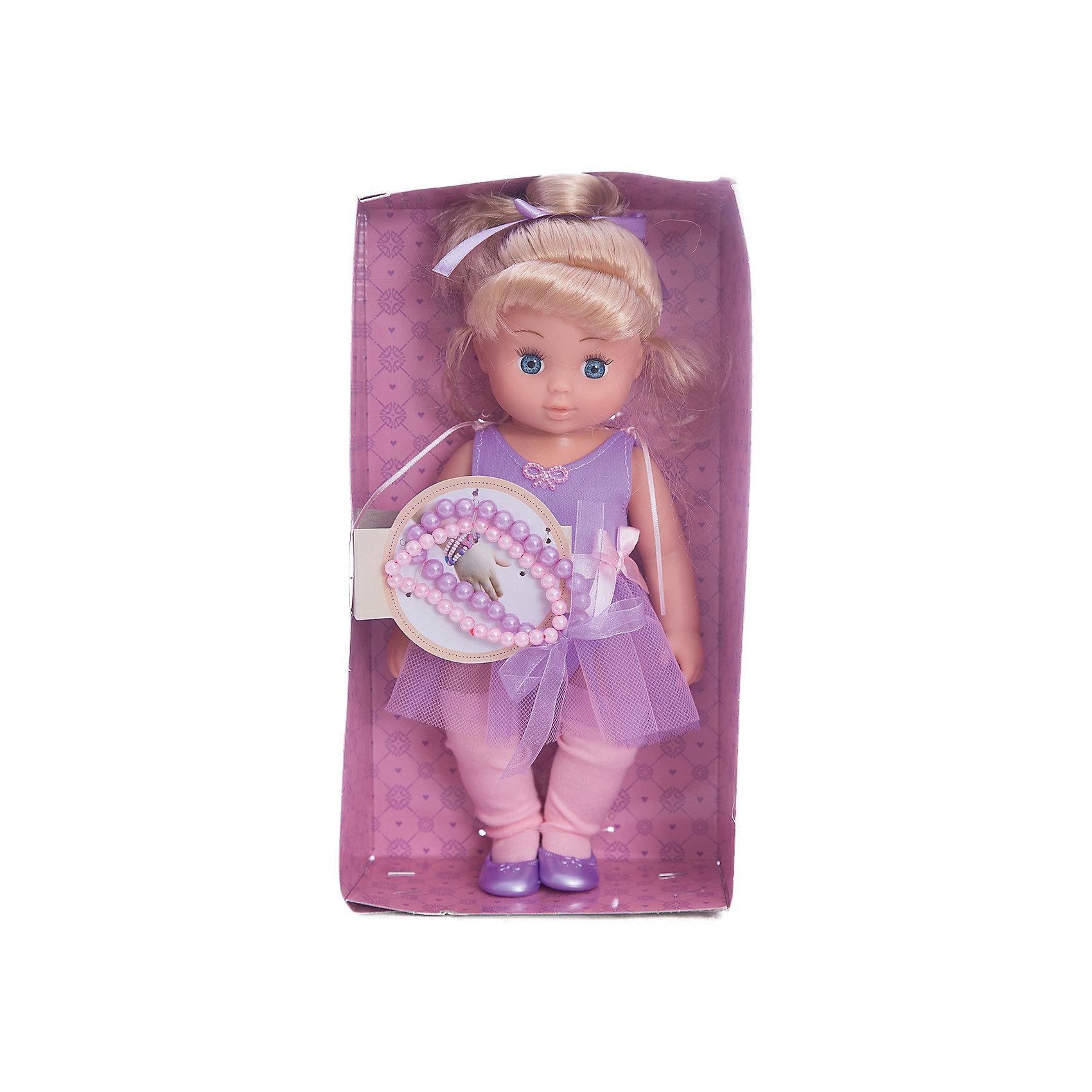 Кукла Диана Маленькая леди, Mary PoppinsКуклы<br>Кукла Диана Маленькая леди, Mary Poppins.<br><br>Характеристики:<br><br>• Комплектация: кукла, 2 браслета<br>• Высота куклы: 9 см.<br>• Материал: ПВХ, пластик, текстиль<br>• Размер упаковки: 16х8х29 см.<br><br>Кукла Диана из серии Маленькая леди от фирмы Mary Poppins очарует маленьких девочек. У куклы светло-голубые глазки, красивая прическа и умилительное выражение лица. Она одета в элегантное фиолетовое платье. Диана выглядит как настоящая леди. Вместе с ней в комплект входит 2 браслета из бусинок, которые юная обладательница куклы может носить на руке. Глазки у куклы не закрываются. Кукла изготовлена из пластика и ПВХ.<br><br>Куклу Диана Маленькая леди, Mary Poppins можно купить в нашем интернет-магазине.<br><br>Ширина мм: 160<br>Глубина мм: 85<br>Высота мм: 300<br>Вес г: 365<br>Возраст от месяцев: 24<br>Возраст до месяцев: 2147483647<br>Пол: Женский<br>Возраст: Детский<br>SKU: 5402751