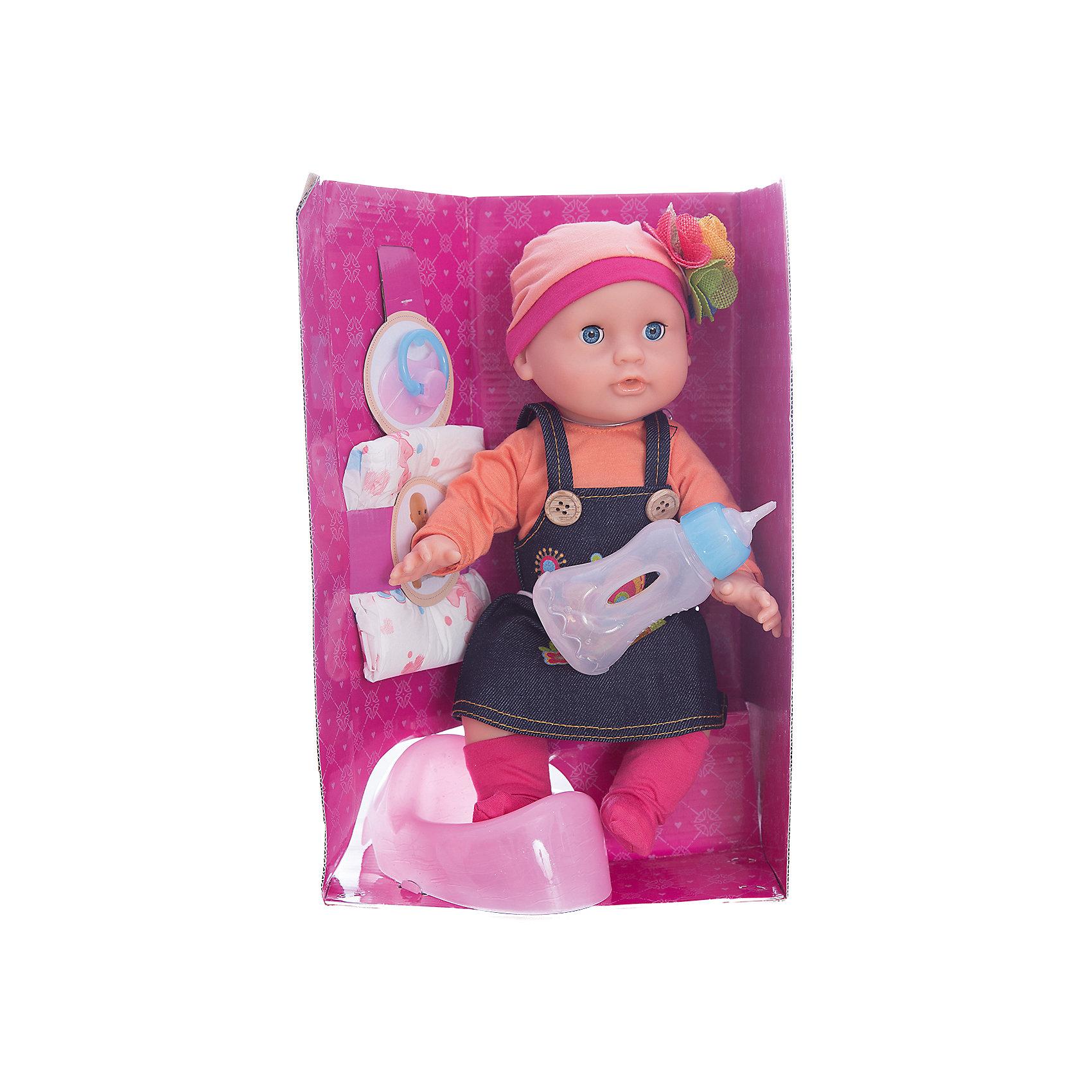Кукла Элли Позаботься обо мне, 32 см, Mary PoppinsКуклы-пупсы<br>Кукла Элли Позаботься обо мне, 32 см, Mary Poppins.<br><br>Характеристики:<br><br>• Комплектация: кукла, горшок, бутылочка, подгузник<br>• Высота куклы: 32 см.<br>• Материал: ПВХ, пластик, текстиль<br>• Упаковка: картонная коробка блистерного типа<br>• Размер упаковки: 23х13х34 см.<br><br>Кукла Элли торговой марки Mary Poppins с функцией Пью и писаю отлично подойдет для сюжетно-ролевых игр в «дочки-матери». В комплекте с куклой поставляется горшок, бутылочка и настоящий подгузник. Можно напоить куколку из бутылочки водой и посадить на горшок или надеть ей подгузник. Кукла одета в стильный сарафан, кофточку, носочки и шапочку с цветком из эксклюзивной коллекции Цветочки. Элли можно купать в ванной (тельце у куклы твердое) и укладывать спать - в горизонтальном положении ее глаза закрываются.<br><br>Куклу Элли Позаботься обо мне, 32 см, Mary Poppins можно купить в нашем интернет-магазине.<br><br>Ширина мм: 225<br>Глубина мм: 130<br>Высота мм: 340<br>Вес г: 750<br>Возраст от месяцев: 24<br>Возраст до месяцев: 2147483647<br>Пол: Женский<br>Возраст: Детский<br>SKU: 5402755