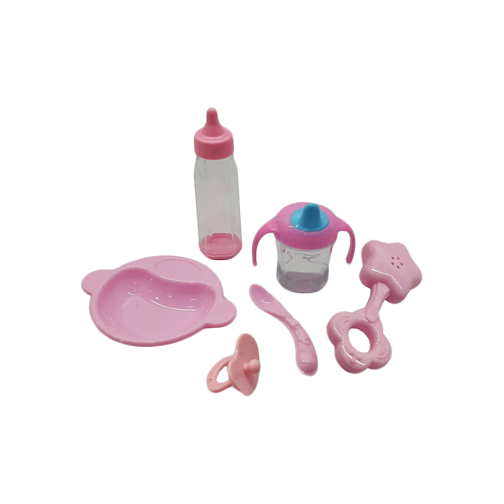 Набор аксессуаров для куклы, Mary PoppinsОдежда для кукол<br>Набор аксессуаров для куклы, Mary Poppins.<br><br>Характеристики:<br><br>• Комплектация: тарелочка, бутылочка, поильник, соска, ложка, погремушка<br>• Материал: пластмасса<br>• Упаковка: картонная коробка<br>• Размер упаковки: 12х6х14 см.<br><br>В этом наборе есть все, что необходимо для ухода за куклой-младенцем: тарелочка, бутылочка, поильник, соска, ложка, погремушка. Набор предназначен для сюжетно-ролевых игр. Все элементы набора изготовлены из качественной гипоаллергенной пластмассы. Игры с куклами благоприятно влияют на социализацию и полноценное формирование психики ребенка, учат эмоциональной отзывчивости.<br><br>Набор аксессуаров для куклы, Mary Poppins можно купить в нашем интернет-магазине.<br><br>Ширина мм: 120<br>Глубина мм: 60<br>Высота мм: 140<br>Вес г: 106<br>Возраст от месяцев: 24<br>Возраст до месяцев: 2147483647<br>Пол: Женский<br>Возраст: Детский<br>SKU: 5402758