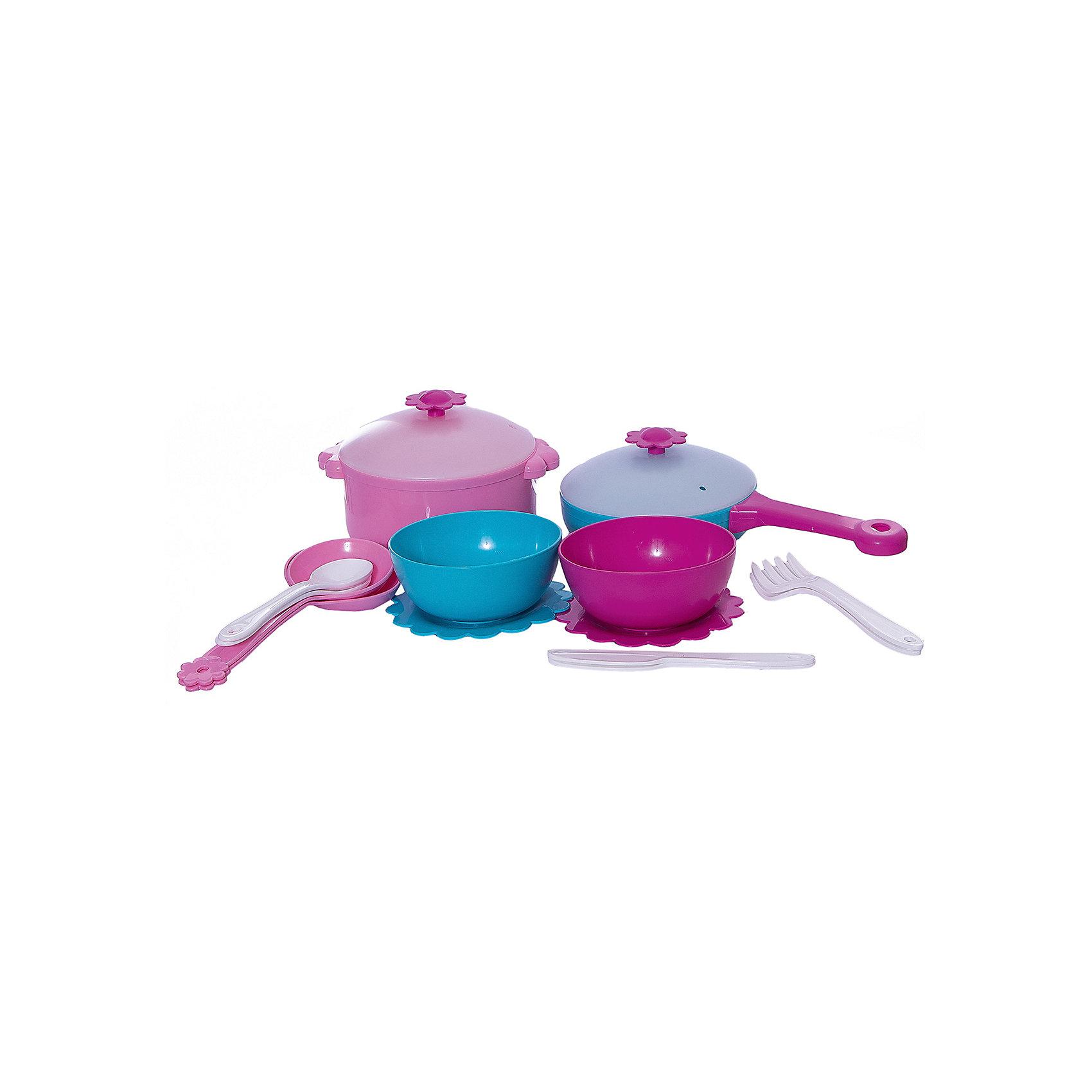 Игровой набор посуды Зайка, 16 предметов, Mary PoppinsПосуда и аксессуары для детской кухни<br>Игровой набор посуды Зайка, 16 предметов, Mary Poppins.<br><br>Характеристики:<br><br>• Комплектация: кастрюля с крышкой, сковородка с крышкой, две тарелки, две миски, две ложки, две вилки, два ножа, шумовка, ложка большая<br>• Материал: пластмасса<br>• Размер упаковки: 21х14х18 см.<br><br>Кухонный игровой набор из эксклюзивной коллекции Зайка ТМ Mary Poppins состоит 16 предметов, с которыми девочка почувствует себя настоящей поварихой и гостеприимной хозяйкой. В набор входят кастрюля и сковорода с крышками, две глубокие миски, две плоские тарелочки, шумовка, большая ложка и два комплекта столовых приборов, каждый из которых включает в себя ложку, вилку и нож. Все элементы набора изготовлены из качественной гипоаллергенной пластмассы.<br><br>Игровой набор посуды Зайка, 16 предметов, Mary Poppins можно купить в нашем интернет-магазине.<br><br>Ширина мм: 230<br>Глубина мм: 230<br>Высота мм: 100<br>Вес г: 13<br>Возраст от месяцев: 24<br>Возраст до месяцев: 2147483647<br>Пол: Женский<br>Возраст: Детский<br>SKU: 5402760