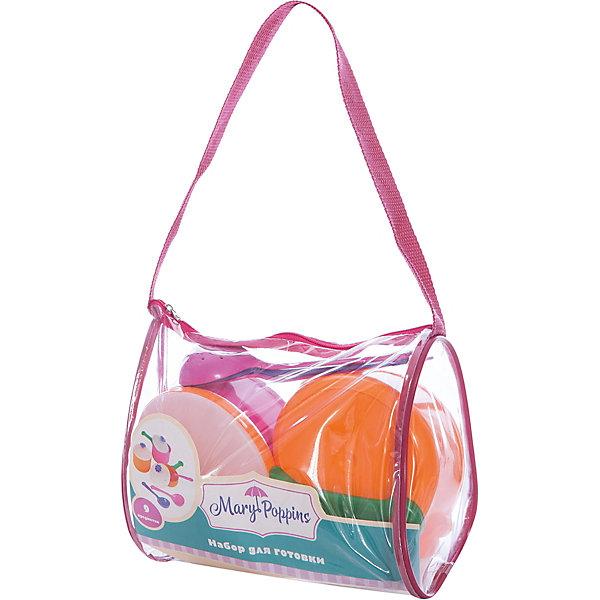 Игровой набор посуды Цветок, 9 предметов, Mary PoppinsДетские кухни<br>Характеристики:<br><br>• возраст: от 3 лет;<br>• материал: пластик;<br>• комплект: кастрюля, ковш, сковорода, 3 крышки, поварешка, шумовка, лопатка;<br>• вес упаковки: 325 гр.;<br>• размер упаковки: 25х15х14 см;<br>• страна производитель: Украина.<br><br>Игрушечная посуда – лучший способ познакомить ребенка с назначением кухонных принадлежностей и привить любовь к приготовлению пищи.<br><br>Набор посуды Mary Poppins содержит все необходимые и привычные для кухни предметы. С их помощью малыш сможет накормить любимые игрушки или продемонстрировать свои умения друзьям.<br><br>Во время игры ребенок изучает названия, учится пользоваться столовыми приборами и распознает цвета. Набор выполнен их безопасного нетоксичного пластика.<br><br>Игровой набор посуды «Цветок», 9 предметов, Mary Poppins можно купить в нашем интернет-магазине.<br>Ширина мм: 205; Глубина мм: 135; Высота мм: 180; Вес г: 19; Возраст от месяцев: 24; Возраст до месяцев: 2147483647; Пол: Женский; Возраст: Детский; SKU: 5402761;