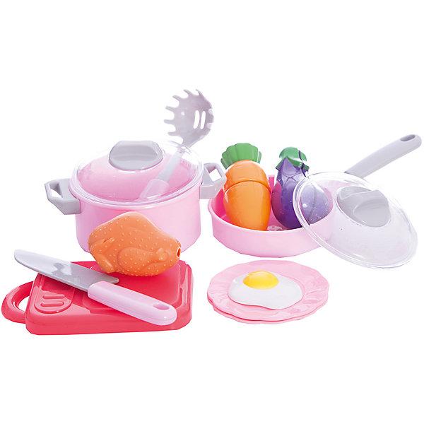 Набор посуды для готовки в сетке, 12 предметов, Mary PoppinsДетские кухни<br>Набор посуды для готовки в сетке, 12 предметов, Mary Poppins.<br><br>Характеристики:<br><br>• Комплектация: разделочная доска, нож, сковорода с крышкой, кастрюля с крышкой, 2 части моркови, 2 части баклажана, курица, яичница, ложка для спагетти, 2 тарелки<br>• Материал: пластмасса<br>• Упаковка: сетка<br><br>Игровой набор для готовки от компании Mary Poppins состоит из игрушечной посуды и игрушечных продуктов. Овощи (баклажан и морковь) мальчики и девочки смогут разрезать на две части, используя пластмассовый ножик. А используя кастрюлю, сковородку и муляжи продуктов (курицу и яичницу), приготовить разнообразные воображаемые блюда. Набор для готовки станет прекрасным дополнением детской кухни или другой кухонной посуды вашего ребенка. Играя с набором, ваш малыш разовьет воображение и получит начальные навыки работы с ножом. Все элементы набора изготовлены из качественной гипоаллергенной пластмассы.<br><br>Набор посуды для готовки в сетке, 12 предметов, Mary Poppins можно купить в нашем интернет-магазине.<br><br>Ширина мм: 200<br>Глубина мм: 80<br>Высота мм: 150<br>Вес г: 238<br>Возраст от месяцев: 24<br>Возраст до месяцев: 2147483647<br>Пол: Женский<br>Возраст: Детский<br>SKU: 5402763