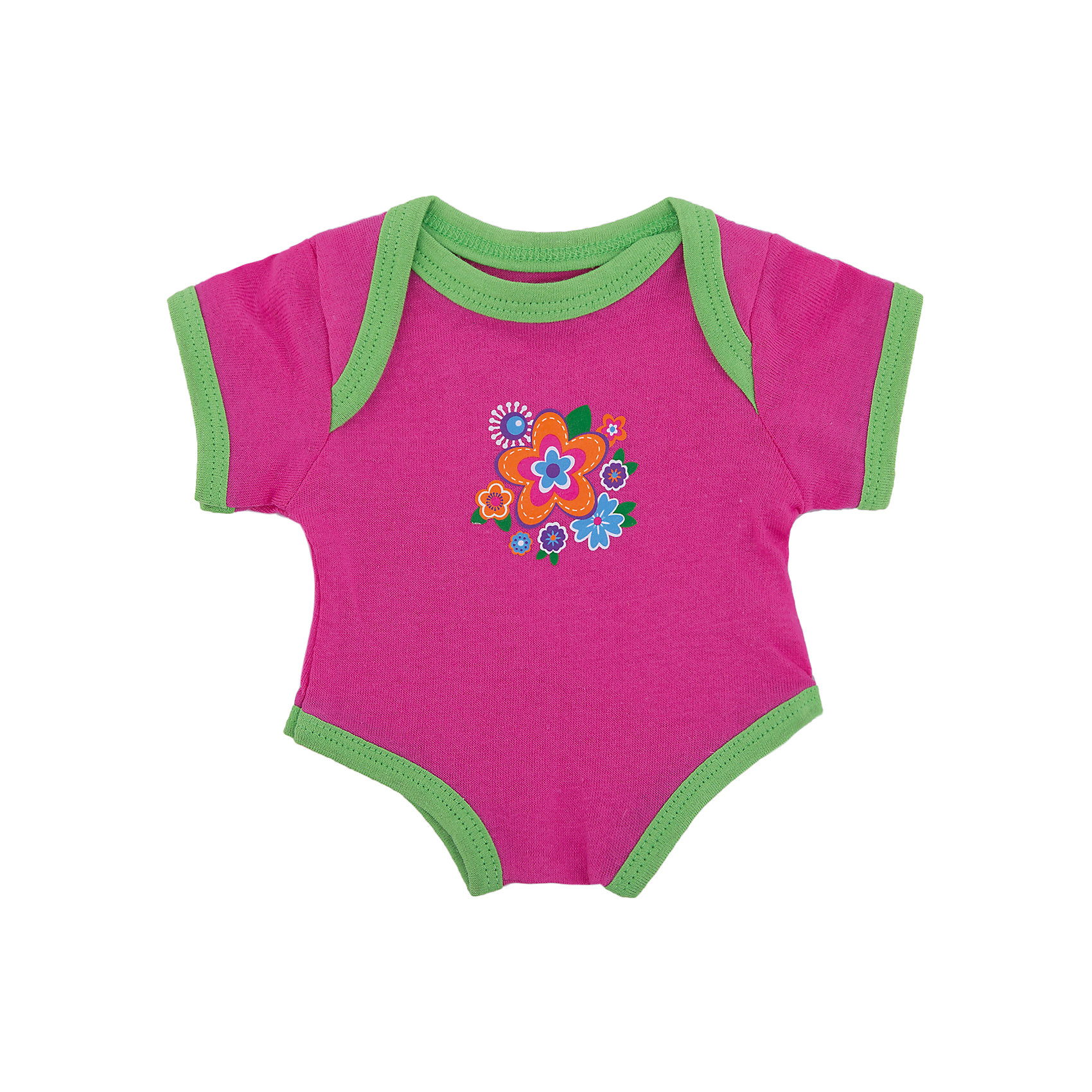 Одежда для куклы 38-43 см, боди Цветочек, Mary PoppinsКукольная одежда и аксессуары<br>Одежда для куклы 38-43 см, боди Цветочек, Mary Poppins.<br><br>Характеристики:<br><br>• Комплектация: боди, вешалка<br>• Высота куклы: 38-43 см.<br>• Материал: текстиль<br>• Основной цвет: розовый<br>• Упаковка: пакет<br>• Уход: стирка в стиральной машине при температуре 30 ?С<br><br>Куклы тоже любят менять наряды! И для них создается стильная и модная одежда, похожая на одежду для настоящих малышей. Это боди розового цвета с контрастной окантовкой, украшенное изображением цветов, из эксклюзивной коллекции Цветочек ТМ Mary Poppins, пополнит гардероб куклы высотой 38-43 см. Боди для куклы изготовлено из приятной на ощупь ткани, его легко снимать и одевать.<br><br>Одежду для куклы 38-43 см, боди Цветочек, Mary Poppins можно купить в нашем интернет-магазине.<br><br>Ширина мм: 220<br>Глубина мм: 330<br>Высота мм: 10<br>Вес г: 36<br>Возраст от месяцев: 24<br>Возраст до месяцев: 2147483647<br>Пол: Женский<br>Возраст: Детский<br>SKU: 5402764