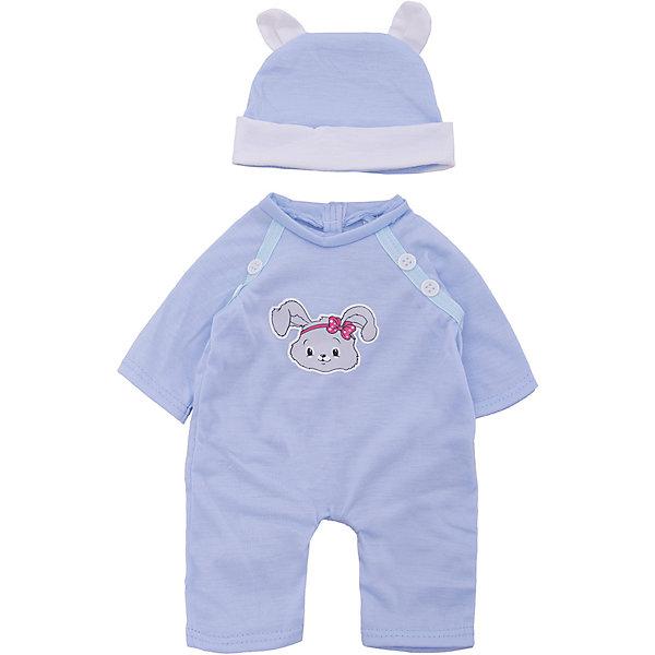 Одежда для куклы 42 см, костюмчик с шапочкой, Mary PoppinsОдежда для кукол<br>Одежда для куклы 42 см, костюмчик с шапочкой, Mary Poppins.<br><br>Характеристики:<br><br>• Комплектация: костюмчик, шапочка, вешалка<br>• Высота куклы: 38-42 см.<br>• Материал: текстиль<br>• Цвет: голубой, белый<br>• Упаковка: пакет<br>• Уход: стирка в стиральной машине при температуре 30 ?С<br><br>Куклы тоже любят менять наряды! И для них создается стильная и модная одежда, похожая на одежду для настоящих малышей. Этот голубой комбинезон с зайчиком и шапочка с забавными ушками из эксклюзивной коллекции Зайка ТМ Mary Poppins, пополнят гардероб куклы высотой 38-42 см. Костюмчик и шапочка для куклы изготовлены из приятной на ощупь ткани, благодаря липучкам костюмчик легко снимать и одевать.<br><br>Одежду для куклы 42 см, костюмчик с шапочкой, Mary Poppins можно купить в нашем интернет-магазине.<br><br>Ширина мм: 220<br>Глубина мм: 330<br>Высота мм: 10<br>Вес г: 98<br>Возраст от месяцев: 24<br>Возраст до месяцев: 2147483647<br>Пол: Женский<br>Возраст: Детский<br>SKU: 5402766