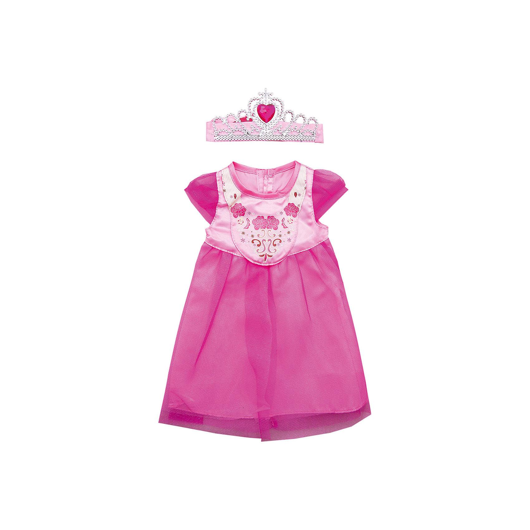 Одежда для куклы 42 см, платье с аксессуаром, Mary PoppinsКукольная одежда и аксессуары<br>Одежда для куклы 42 см, платье с аксессуарами, Mary Poppins.<br><br>Характеристики:<br><br>• Комплектация: платье, диадема, волшебная палочка, вешалка<br>• Высота куклы: 38-42 см.<br>• Материал: текстиль<br>• Цвет: розовый<br>• Упаковка: пакет<br>• Уход: стирка в стиральной машине при температуре 30 ?С<br><br>Куклы тоже любят менять наряды! И для них создается стильная и модная одежда. Это платье из эксклюзивной коллекции Цветочки ТМ Mary Poppins пополнит гардероб куклы высотой 38-42 см. Платье сшито из атласа и сеточки, украшено рисунком. В комплекте имеется диадема и волшебная палочка, которые дополнят образ куклы. Нарядив свою любимую куклу, девочка сможет взять ее на праздник или же придумать торжество у себя дома. Платье для куклы легко снимать и одевать.<br><br>Одежду для куклы 42 см, платье с аксессуарами, Mary Poppins можно купить в нашем интернет-магазине.<br><br>Ширина мм: 220<br>Глубина мм: 330<br>Высота мм: 10<br>Вес г: 81<br>Возраст от месяцев: 24<br>Возраст до месяцев: 2147483647<br>Пол: Женский<br>Возраст: Детский<br>SKU: 5402771
