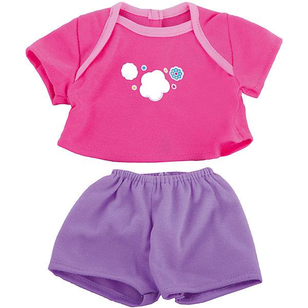 Одежда для куклы 42 см, футболочка и штанишки, Mary PoppinsОдежда для кукол<br>Одежда для куклы 42 см, футболочка и штанишки, Mary Poppins.<br><br>Характеристики:<br><br>• Комплектация: футболка, штанишки, вешалка<br>• Высота куклы: 38-42 см.<br>• Материал: текстиль<br>• Цвет: розовый, сиреневый<br>• Упаковка: пакет<br>• Уход: стирка в стиральной машине при температуре 30 ?С<br><br>Куклы тоже любят менять наряды! И для них создается стильная и модная одежда, похожая на одежду для настоящих малышей. Этот летний костюмчик из эксклюзивной коллекции Цветочки ТМ Mary Poppins пополнит гардероб куклы высотой 38-42 см. Розовая футболка, украшенная ярким принтом, и сиреневые шортики отлично подойдут для летних прогулок с любимой куклой. Наряд для куклы изготовлен из приятной на ощупь ткани, его легко снимать и одевать.<br><br>Одежду для куклы 42 см, футболочка и штанишки, Mary Poppins можно купить в нашем интернет-магазине.<br><br>Ширина мм: 220<br>Глубина мм: 330<br>Высота мм: 10<br>Вес г: 81<br>Возраст от месяцев: 24<br>Возраст до месяцев: 2147483647<br>Пол: Женский<br>Возраст: Детский<br>SKU: 5402774