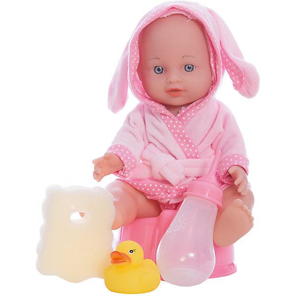 Игровой набор с пупсом и аксессуарами Пошли купаться, Mary PoppinsКуклы<br>Игровой набор с пупсом и аксессуарами Пошли купаться, Mary Poppins.<br><br>Характеристики:<br><br>• Комплектация: кукла, бутылочка, горшок, мочалка, игрушка для купания<br>• Высота куклы: 30 см.<br>• Материал: пластик, ПВХ, текстиль<br>• Упаковка: рюкзачок<br><br>Игровой набор с пупсом и аксессуарами Пошли купаться от производителя Mary Poppins позволит девочке устраивать невероятно увлекательные сюжетно-ролевые игры! Комплект включает в себя очаровательного пупса, одетого в милый купальный халатик с капюшоном с ушками. У куклы есть функция пью и писаю: можно напоить ее настоящей водой из бутылочки и потом посадить на горшок. Пупса можно купать в ванной (тельце у куклы твердое). В комплекте с куклой имеется мочалка и игрушка для купания. Кукла упакована в рюкзачок.<br><br>Игровой набор с пупсом и аксессуарами Пошли купаться, Mary Poppins можно купить в нашем интернет-магазине.<br><br>Ширина мм: 180<br>Глубина мм: 130<br>Высота мм: 245<br>Вес г: 419<br>Возраст от месяцев: 24<br>Возраст до месяцев: 2147483647<br>Пол: Женский<br>Возраст: Детский<br>SKU: 5402775