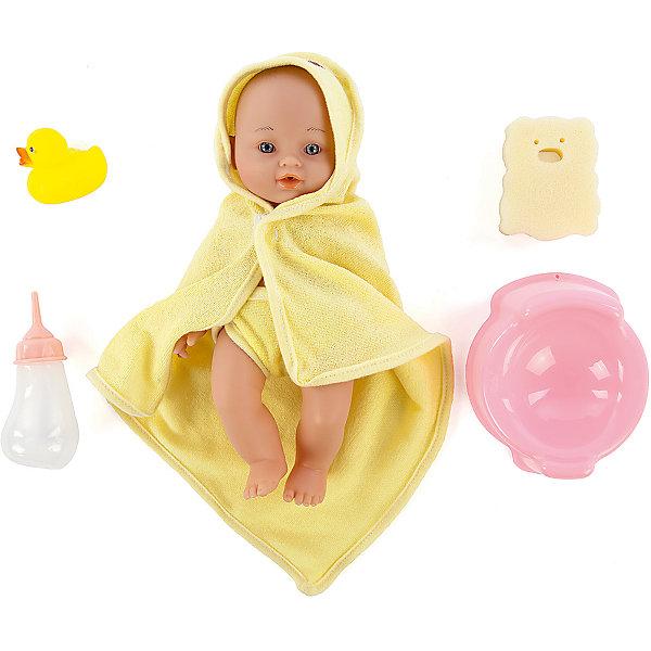 Игровой набор с пупсом и аксессуарами Пошли купаться, Mary PoppinsКуклы<br>Характеристики:<br><br>• возраст: от 3 лет;<br>• материал: текстиль, пластмасса;<br>• высота куклы: 32 см;<br>• комплект: кукла, горшок, бутылочка, мочалка, уточка, трусики, накидка-полотенце;<br>• вес упаковки: 395 гр.;<br>• размер упаковки: 25х18х18 см;<br>• пластиковый рюкзачок;<br>• страна производитель: Китай.<br><br>Пупс из набора «Пошли купаться» Mary Poppins нуждается в заботе как настоящий ребенок. Пупс умеет пить из бутылочки, главное вовремя посадить его на горшок, иначе все вокруг станет мокрым. Ребенок сможет брать игрушку с собой в ванную, чтобы разнообразить сюжеты игры.<br><br>После водных процедур нужно обязательно завернуть пупса в полотенце-накидку, чтобы он не простыл. Кукла выполнена из безопасных материалов. Ручки, ножки и голова двигаются. Набор продается в прозрачном рюкзачке на лямках, поэтому его удобно брать с собой.<br><br>Игровой набор с пупсом и аксессуарами «Пошли купаться», Mary Poppins можно купить в нашем интернет-магазине.<br>Ширина мм: 180; Глубина мм: 130; Высота мм: 245; Вес г: 416; Возраст от месяцев: 24; Возраст до месяцев: 2147483647; Пол: Женский; Возраст: Детский; SKU: 5402776;