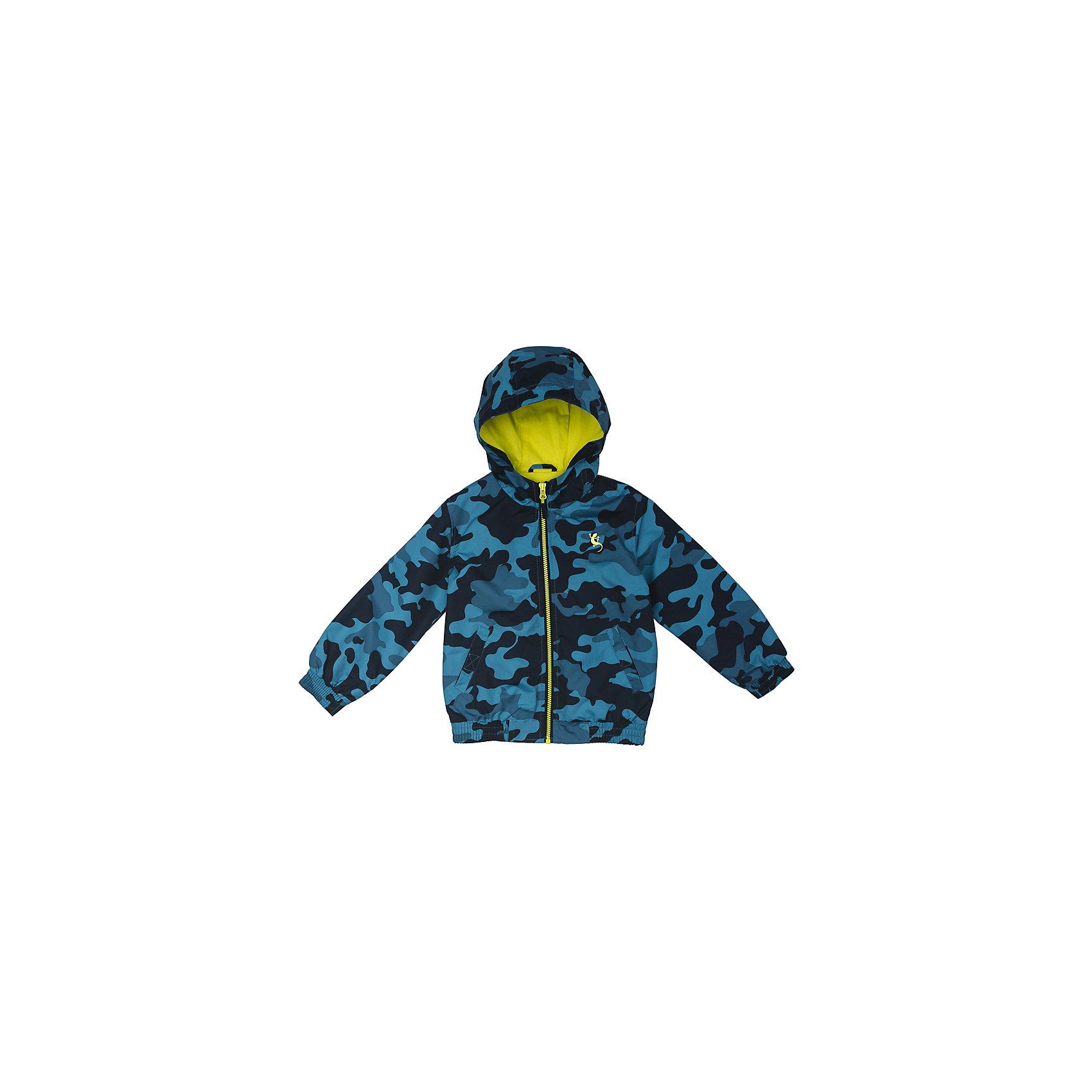Куртка для мальчика PlayTodayВерхняя одежда<br>Куртка для мальчика PlayToday<br>Практичная куртка расцветки камуфляж со специальной водоотталкивающей пропиткой защитит Вашего ребенка в любую погоду! Мягкие  резинки на рукавах и по низу изделия защитят Вашего ребенка - ветер не сможет проникнуть под куртку.  Модель с резинкой на капюшоне - даже во время активных игр капюшон не упадет с головы ребенка. Светоотражатели на рукаве и по низу изделия - один из гарантов безопасности, ребенок будет виден в темное время суток.Преимущества: Водоооталкивающая тканьМодель с резинкой на капюшоне.Светоотражатели на рукаве и по низу изделия.<br>Состав:<br>Верх: 100% полиэстер, подкладка: 65% полиэстер, 35% хлопок<br><br>Ширина мм: 356<br>Глубина мм: 10<br>Высота мм: 245<br>Вес г: 519<br>Цвет: голубой<br>Возраст от месяцев: 24<br>Возраст до месяцев: 36<br>Пол: Мужской<br>Возраст: Детский<br>Размер: 98,128,122,116,110,104<br>SKU: 5403186
