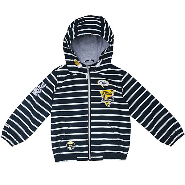 Куртка для мальчика PlayTodayВетровки и жакеты<br>Характеристики товара:<br><br>• цвет: разноцветный<br>• состав: 100% полиэстер, подкладка: 100% полиэстер<br>• без утеплителя<br>• температурный режим: от +10°С до +20°С<br>• со специальной водоотталкивающей пропиткой<br>• карманы<br>• защита подбородка<br>• молния<br>• эластичные манжеты<br>• светоотражающие элементы<br>• капюшон<br>• коллекция: весна-лето 2017<br>• страна бренда: Германия<br>• страна производства: Китай<br><br>Популярный бренд PlayToday выпустил новую коллекцию! Вещи из неё продолжают радовать покупателей удобством, стильным дизайном и продуманным кроем. Дети носят их с удовольствием. PlayToday - это линейка товаров, созданная специально для детей. Дизайнеры учитывают новые веяния моды и потребности детей. Порадуйте ребенка обновкой от проверенного производителя!<br>Такая демисезонная куртка обеспечит ребенку комфорт благодаря качественному материалу и продуманному крою. С помощью этой модели можно удобно одеться по погоде. Очень модная модель! Отлично подходит для переменной погоды межсезонья.<br><br>Куртку для мальчика от известного бренда PlayToday можно купить в нашем интернет-магазине.<br>Ширина мм: 356; Глубина мм: 10; Высота мм: 245; Вес г: 519; Цвет: белый; Возраст от месяцев: 24; Возраст до месяцев: 36; Пол: Мужской; Возраст: Детский; Размер: 98,128,122,116,110,104; SKU: 5403347;