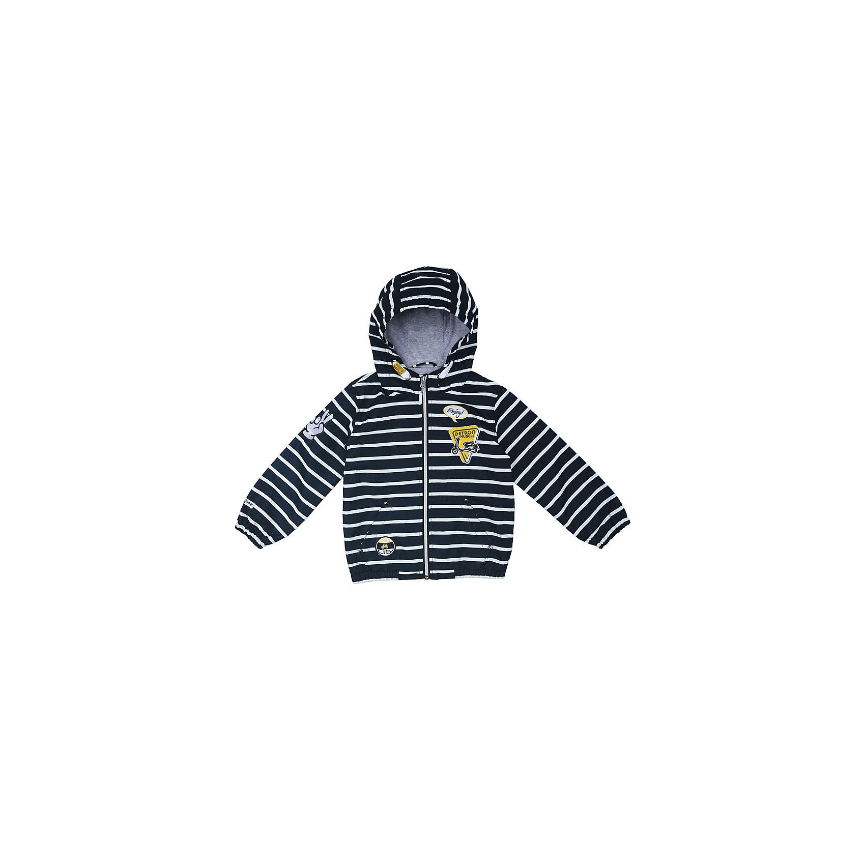 Куртка для мальчика PlayTodayКуртка для мальчика PlayToday<br>Практичная яркая куртка на подкладке, со специальной водоотталкивающей пропиткой защитит Вашего ребенка в любую погоду! Мягкие  резинки на рукавах защитят Вашего ребенка - ветер не сможет проникнуть под куртку.  Специальный карман для фиксации застежки-молнии не позволит застежке травмировать нежную кожу ребенка. Модель снабжена удобными регулируемым шнурами - кулисками на капюшоне.Преимущества: Водоооталкивающая тканьЗащита подбородка. Специальный карман для фиксации застежки-молнии.Подкладка из смесовой ткани<br>Состав:<br>Верх: 100% полиэстер, подкладка: 65% полиэстер, 35% хлопок<br><br>Ширина мм: 356<br>Глубина мм: 10<br>Высота мм: 245<br>Вес г: 519<br>Цвет: разноцветный<br>Возраст от месяцев: 84<br>Возраст до месяцев: 96<br>Пол: Мужской<br>Возраст: Детский<br>Размер: 128,98,104,110,116,122<br>SKU: 5403347