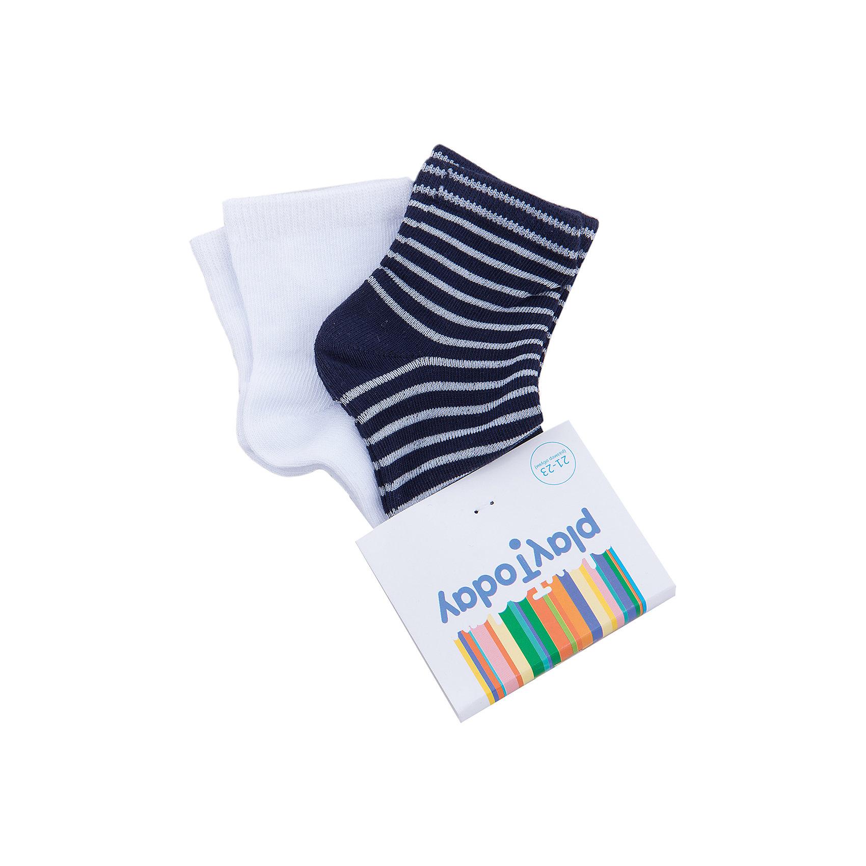 Носки для мальчика PlayTodayНоски<br>Носки для мальчика PlayToday<br>Носки очень мягкие, из качественных материалов, приятны к телу и не сковывают движений. Хорошо пропускают воздух, тем самым позволяя коже дышать.  Даже частые стирки, при условии соблюдений рекомендаций по уходу, не изменят ни форму, ни цвет изделий.Преимущества: Мягкие, выполненные из натуральных материалов, приятны к телу, не сковывают движенийХорошо пропускают воздух, позволяя тем самым коже дышатьДаже частые стирки, при условии соблюдений рекомендаций по уходу, не изменят ни форму, ни цвет изделия<br>Состав:<br>75% хлопок 20% нейлон 5% эластан<br><br>Ширина мм: 87<br>Глубина мм: 10<br>Высота мм: 105<br>Вес г: 115<br>Цвет: синий<br>Возраст от месяцев: 18<br>Возраст до месяцев: 24<br>Пол: Мужской<br>Возраст: Детский<br>Размер: 14,18,16<br>SKU: 5403472