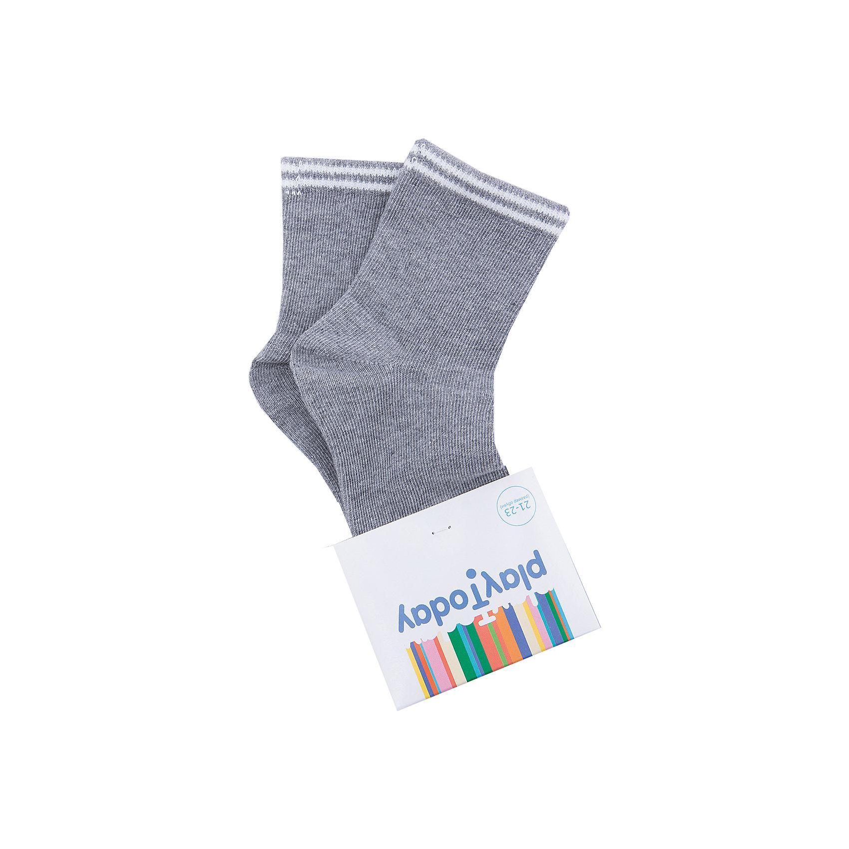 Носки для мальчика PlayTodayНоски<br>Носки для мальчика PlayToday<br>Носки очень мягкие, из качественных материалов, приятны к телу и не сковывают движений. Хорошо пропускают воздух, тем самым позволяя коже дышать.  Даже частые стирки, при условии соблюдений рекомендаций по уходу, не изменят ни форму, ни цвет изделий.Преимущества: Мягкие, выполненные из натуральных материалов, приятны к телу, не сковывают движенийХорошо пропускают воздух, позволяя тем самым коже дышатьДаже частые стирки, при условии соблюдений рекомендаций по уходу, не изменят ни форму, ни цвет изделия<br>Состав:<br>75% хлопок 20% нейлон 5% эластан<br><br>Ширина мм: 87<br>Глубина мм: 10<br>Высота мм: 105<br>Вес г: 115<br>Цвет: серый<br>Возраст от месяцев: 84<br>Возраст до месяцев: 96<br>Пол: Мужской<br>Возраст: Детский<br>Размер: 18,14,16<br>SKU: 5403476