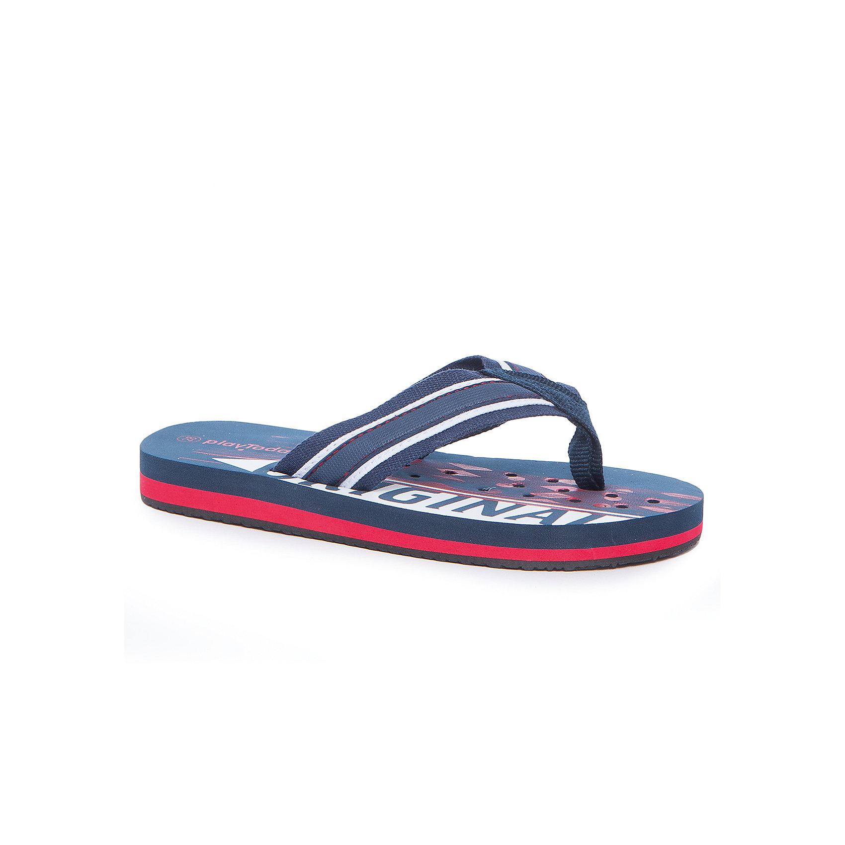 Шлепанцы для мальчика PlayTodayПляжная обувь<br>Пантолеты для мальчика PlayToday<br>Модель выполнена из мягкого водонепроницаемого материала. Контрасный рисунок подошвы выгодно отличает данное изделие. Подошва с перфорацией.<br>Состав:<br>80% хлопок, 20% полиэстер<br><br>Ширина мм: 225<br>Глубина мм: 139<br>Высота мм: 112<br>Вес г: 290<br>Цвет: разноцветный<br>Возраст от месяцев: 120<br>Возраст до месяцев: 132<br>Пол: Мужской<br>Возраст: Детский<br>Размер: 34,28,29,30,31,32,33<br>SKU: 5403507
