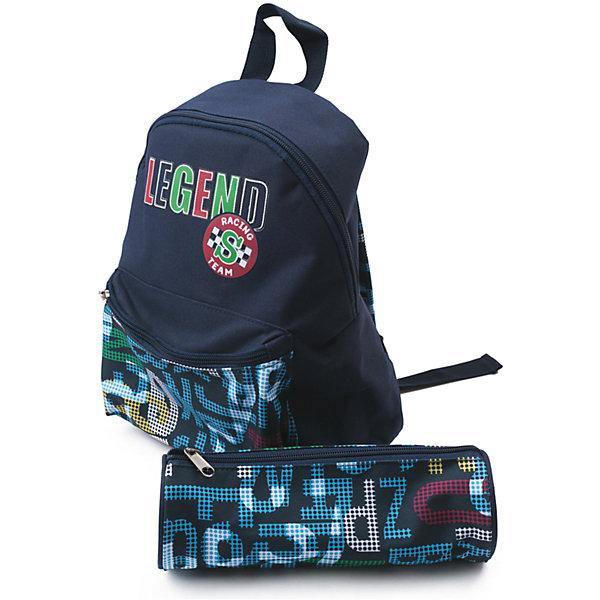 Рюкзак для мальчика PlayTodayРюкзаки<br>Характеристики товара:<br><br>• цвет: синий<br>• состав: 100% полиэстер<br>• в комплекте мягкий пенал аналогичной расцветки<br>• декорирована принтом<br>• качественный материал<br>• водоотталкивающая пропитка<br>• стильный дизайн<br>• регулируемые анатомические лямки<br>• комфортная посадка<br>• коллекция: весна-лето 2017<br>• страна бренда: Германия<br>• страна производства: Китай<br><br>Популярный бренд PlayToday выпустил новую коллекцию! Вещи из неё продолжают радовать покупателей удобством, стильным дизайном и продуманным кроем. Дети носят их с удовольствием. PlayToday - это линейка товаров, созданная специально для детей. Дизайнеры учитывают новые веяния моды и потребности детей. Порадуйте ребенка обновкой от проверенного производителя!<br>Этот рюкзак обеспечит ребенку комфорт благодаря качественному материалу и удобному крою. С его помощью можно сделать интересный акцент в образе, дополнить наряд и взять с собой нужные вещи. Очень модная вещь! Выглядит стильно и аккуратно.<br><br>Сумку для мальчика от известного бренда PlayToday можно купить в нашем интернет-магазине.<br><br>Ширина мм: 170<br>Глубина мм: 157<br>Высота мм: 67<br>Вес г: 117<br>Цвет: темно-синий<br>Возраст от месяцев: 60<br>Возраст до месяцев: 144<br>Пол: Мужской<br>Возраст: Детский<br>Размер: one size<br>SKU: 5403595
