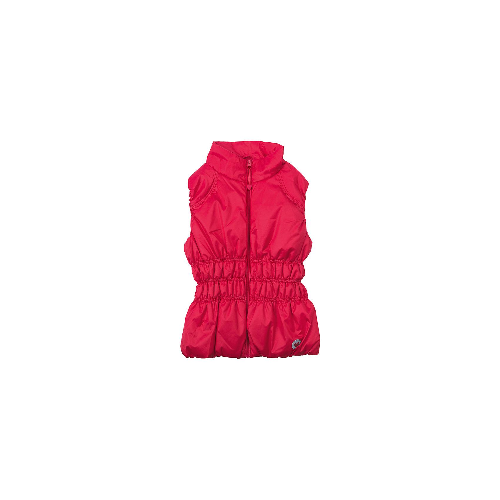 Жилет для девочки PlayTodayВерхняя одежда<br>Жилет для девочки PlayToday<br>Утепленный жилет с водооталкивающей пропиткой - замечательное решение для весны. Наличие светооражателя на подоле позволит видеть Вашего ребенка в темное время суток. За счет мягкой резинки на пройме рукавов, данный жилет будет удобен и в ветреную погоду. Модель с широкими резинками на талии, для дополнительного сохранения тепла. <br><br>Преимущества: <br><br>Мягкие резинки на талии<br>Светоотражатель на подоле<br>Мягкие резинки в пройме рукавов<br><br>Состав:<br>Верх: 100% полиэстер, Подкладка: 100% полиэстер, Наполнитель: 100% полиэстер, 50 г/м2<br><br>Ширина мм: 356<br>Глубина мм: 10<br>Высота мм: 245<br>Вес г: 519<br>Цвет: красный<br>Возраст от месяцев: 72<br>Возраст до месяцев: 84<br>Пол: Женский<br>Возраст: Детский<br>Размер: 122,128,98,104,110,116<br>SKU: 5403613