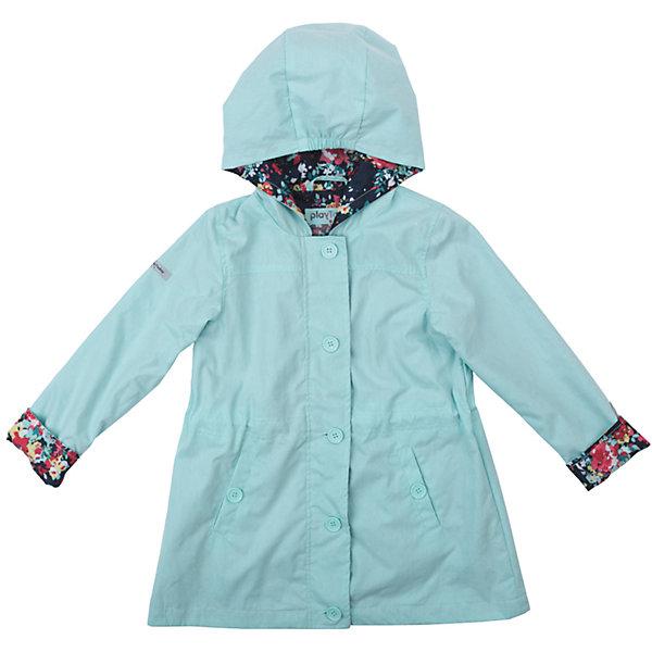Плащ для девочки PlayTodayВерхняя одежда<br>Характеристики товара:<br><br>• цвет: голубой<br>• состав: 75% хлопок, 25% нейлон, подкладка - 100% полиэстер<br>• без утеплителя<br>• температурный режим: от +10°С до +20°С<br>• карманы<br>• подкладка с принтом<br>• пуговицы<br>• светоотражающие элементы<br>• капюшон<br>• коллекция: весна-лето 2017<br>• страна бренда: Германия<br>• страна производства: Китай<br><br>Популярный бренд PlayToday выпустил новую коллекцию! Вещи из неё продолжают радовать покупателей удобством, стильным дизайном и продуманным кроем. Дети носят их с удовольствием. PlayToday - это линейка товаров, созданная специально для детей. Дизайнеры учитывают новые веяния моды и потребности детей. Порадуйте ребенка обновкой от проверенного производителя!<br>Такой демисезонный плащ обеспечит ребенку комфорт благодаря качественному материалу и продуманному крою. С помощью этой модели можно удобно одеться по погоде. Очень модная модель! Отлично подходит для переменной погоды межсезонья.<br><br>Плащ для девочки от известного бренда PlayToday можно купить в нашем интернет-магазине.<br><br>Ширина мм: 157<br>Глубина мм: 13<br>Высота мм: 119<br>Вес г: 200<br>Цвет: голубой<br>Возраст от месяцев: 24<br>Возраст до месяцев: 36<br>Пол: Женский<br>Возраст: Детский<br>Размер: 98,122,116,110,104,128<br>SKU: 5403620
