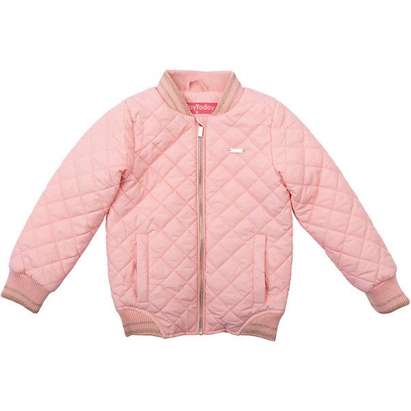 Куртка для девочки PlayTodayВетровки и жакеты<br>Характеристики товара:<br><br>• цвет: розовый<br>• состав: 100% полиэстер, подкладка: 60% полиэстер, 40% хлопок<br>• утеплитель: 100% полиэстер, 80 г/м2<br>• температурный режим: от +5°С до +15°С<br>• стеганая<br>• карманы<br>• молния<br>• эластичные манжеты<br>• защита подбородка<br>• воротник-стойка<br>• коллекция: весна-лето 2017<br>• страна бренда: Германия<br>• страна производства: Китай<br><br>Популярный бренд PlayToday выпустил новую коллекцию! Вещи из неё продолжают радовать покупателей удобством, стильным дизайном и продуманным кроем. Дети носят их с удовольствием. PlayToday - это линейка товаров, созданная специально для детей. Дизайнеры учитывают новые веяния моды и потребности детей. Порадуйте ребенка обновкой от проверенного производителя!<br>Такая демисезонная куртка обеспечит ребенку комфорт благодаря качественному материалу и продуманному крою. С помощью этой модели можно удобно одеться по погоде. Очень модная модель! Отлично подходит для переменной погоды межсезонья.<br><br>Куртку для девочки от известного бренда PlayToday можно купить в нашем интернет-магазине.<br><br>Ширина мм: 356<br>Глубина мм: 10<br>Высота мм: 245<br>Вес г: 519<br>Цвет: розовый<br>Возраст от месяцев: 24<br>Возраст до месяцев: 36<br>Пол: Женский<br>Возраст: Детский<br>Размер: 98,128,122,116,110,104<br>SKU: 5403627