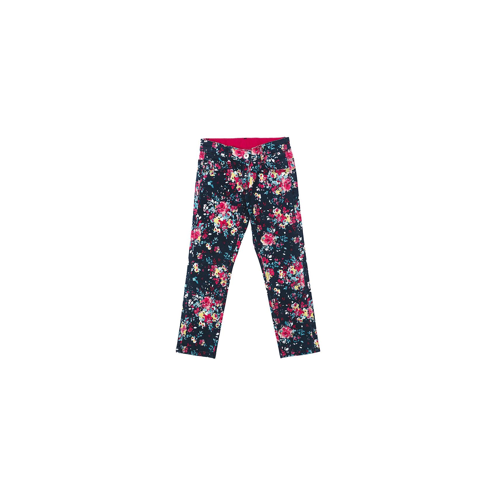 Брюки для девочки PlayTodayБрюки для девочки PlayToday<br>Стильные брюки из мягкой яркой цветной ткани понравятся Вашей моднице. Брюки комфортны при носке и не сковывают движений ребенка. Модель с карманами, снабжена шлевками. Могут быть хорошей базовой вещью в детском гардеробе   <br><br>Преимущества: <br><br>Мягкая ткань не сковывает движений ребенка<br>Брюки со шлевками<br>Брюки комфортны при носке<br><br>Состав:<br>98% хлопок, 2% эластан<br><br>Ширина мм: 215<br>Глубина мм: 88<br>Высота мм: 191<br>Вес г: 336<br>Цвет: разноцветный<br>Возраст от месяцев: 84<br>Возраст до месяцев: 96<br>Пол: Женский<br>Возраст: Детский<br>Размер: 128,98,104,110,116,122<br>SKU: 5403648