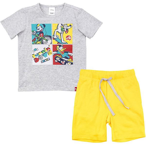 Комплект для мальчика PlayTodayКомплекты<br>Характеристики товара:<br><br>• цвет: разноцветный<br>• состав: 95% хлопок, 5% эластан<br>• комплектация: футболка и шорты<br>• дышащий материал<br>• короткие рукава<br>• принт<br>• пояс - мягкая резинка<br>• комфортная посадка<br>• коллекция: весна-лето 2017<br>• страна бренда: Германия<br>• страна производства: Китай<br><br>Популярный бренд PlayToday выпустил новую коллекцию! Вещи из неё продолжают радовать покупателей удобством, стильным дизайном и продуманным кроем. Дети носят их с удовольствием. PlayToday - это линейка товаров, созданная специально для детей. Дизайнеры учитывают новые веяния моды и потребности детей. Порадуйте ребенка обновкой от проверенного производителя!<br>Эта модель обеспечит ребенку комфорт благодаря качественному материалу и удобному крою. Отличный вариант домашней одежды - она не трет и давит, не ограничивает свободу движений! Выглядит стильно и аккуратно.<br><br>Комплект для мальчика от известного бренда PlayToday можно купить в нашем интернет-магазине.<br>Ширина мм: 199; Глубина мм: 10; Высота мм: 161; Вес г: 151; Цвет: белый; Возраст от месяцев: 108; Возраст до месяцев: 120; Пол: Мужской; Возраст: Детский; Размер: 140,98,122,116,110,104,134,128; SKU: 5403847;