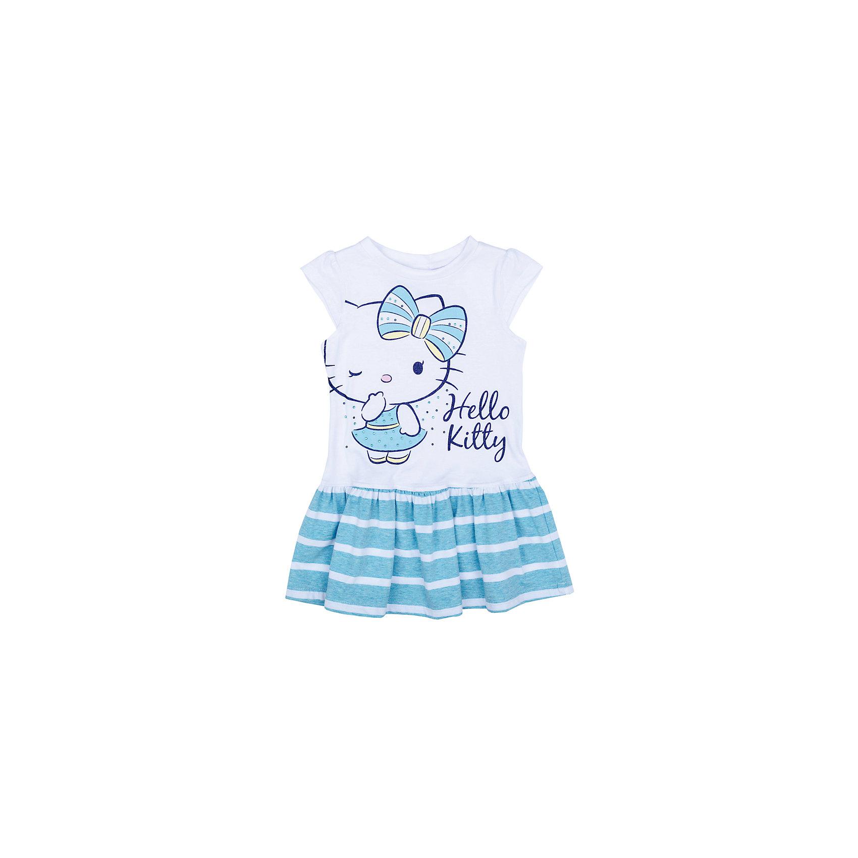 Платье для девочки PlayTodayПлатья и сарафаны<br>Платье для девочки PlayToday<br>Платье свободного кроя, с округлым вырезом у горловины, нежных оттенков понравится Вашей моднице.  Свободный крой не сковывает движений. Приятная на ощупь ткань не раздражает нежную кожу ребенка. Модель с ярким эффектным лицензированным принтом Hello Kitty.  <br><br>Преимущества: <br><br>Мягкая ткань не вызывает раздражений<br>Свободный крой не сковывает движений ребенка<br>Модель с лицензированным принтом Hello, Kitty<br><br>Состав:<br>95% хлопок, 5% эластан<br><br>Ширина мм: 236<br>Глубина мм: 16<br>Высота мм: 184<br>Вес г: 177<br>Цвет: голубой<br>Возраст от месяцев: 84<br>Возраст до месяцев: 96<br>Пол: Женский<br>Возраст: Детский<br>Размер: 128,98,104,110,116,122<br>SKU: 5403914