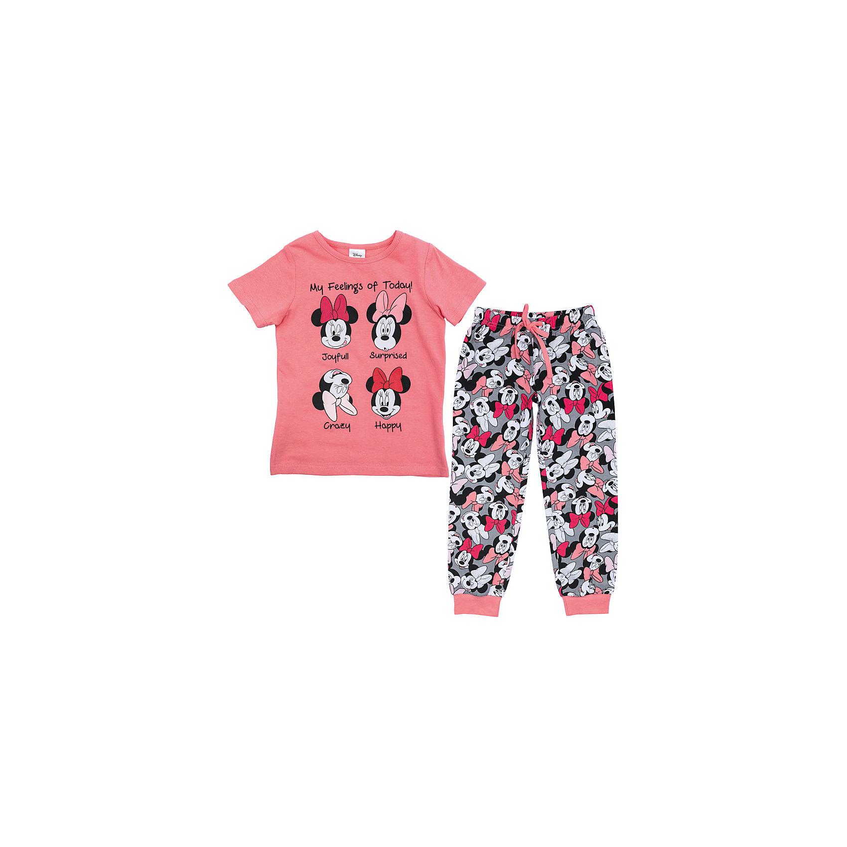 Пижама для девочки PlayTodayКомплекты<br>Пижама для девочки PlayToday<br>Комплект из футболки и брюк прекрасно подойдет для домашнего использования. Мягкий, приятный к телу, материал не сковывает движений. Яркий стильный лицензированный принт Disney  является достойным украшением данного изделия. Леггинсы на мягкой удобной резинке, со шнуром - кулиской на поясе.Преимущества: Свободный классический крой не сковывает движения ребенкаПодходит в качестве базовой вещи для повседневного гардеробаЯркий стильный лицензированный принт Disney<br>Состав:<br>95% хлопок, 5% эластан<br><br>Ширина мм: 199<br>Глубина мм: 10<br>Высота мм: 161<br>Вес г: 151<br>Цвет: разноцветный<br>Возраст от месяцев: 84<br>Возраст до месяцев: 96<br>Пол: Женский<br>Возраст: Детский<br>Размер: 128,98,104,110,116,122<br>SKU: 5403977