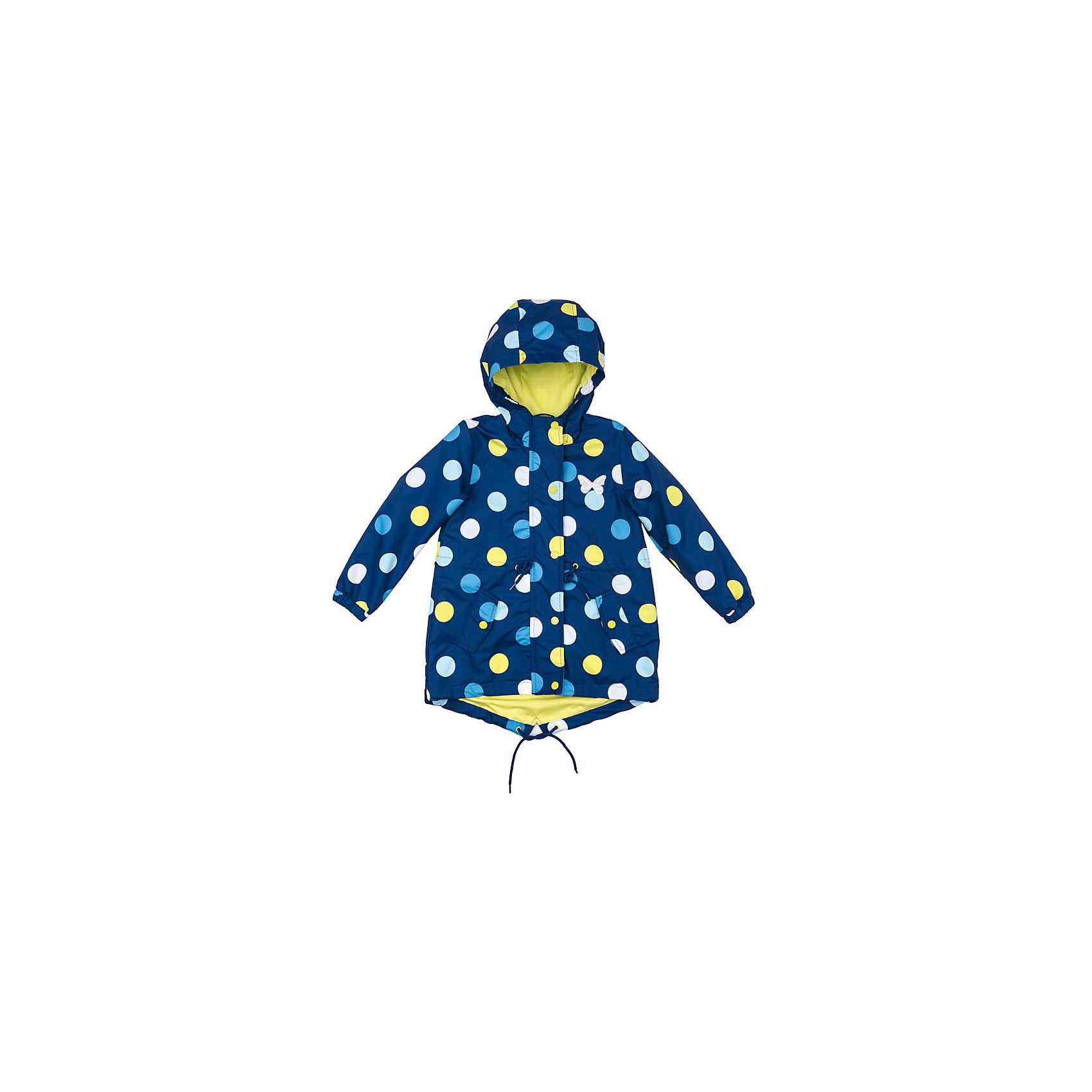 Куртка для девочки PlayTodayВетровки и жакеты<br>Куртка для девочки PlayToday<br>Практичная яркая со специальной водоотталкивающей пропиткой защитит Вашего ребенка в любую погоду! Мягкие  резинки на рукавах защитят Вашего ребенка - ветер не сможет проникнуть под куртку.  Специальный карман для фиксации застежки-молнии не позволит застежке травмировать нежную кожу ребенка. Модель снабжена удобными регулируемым шнурами - кулисками на капюшоне, талии и по низу изделия. Светоотражатели позволят видеть Вашего ребенка в темное время суток.  <br><br>Преимущества: <br><br>Водоооталкивающая ткань<br>Защита подбородка. Специальный карман для фиксации застежки-молнии. Наличие данного кармана не позволит застежке -молнии травмировать нежную кожу ребенка<br>Модель снабжена удобными регулируемыми шнурами - кулисками<br><br>Состав:<br>Верх: 100% полиэстер, подкладка: 60% хлопок, 40% полиэстер<br><br>Ширина мм: 356<br>Глубина мм: 10<br>Высота мм: 245<br>Вес г: 519<br>Цвет: разноцветный<br>Возраст от месяцев: 24<br>Возраст до месяцев: 36<br>Пол: Женский<br>Возраст: Детский<br>Размер: 98,128,104,110,116,122<br>SKU: 5404230