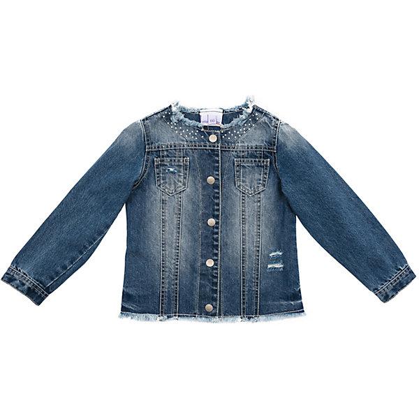 Куртка джинсовая для девочки PlayTodayДжинсовая одежда<br>Характеристики товара:<br><br>• цвет: синий<br>• состав: 100% хлопок<br>• без утеплителя<br>• температурный режим: от +10°С до +20°С<br>• карманы<br>• на металлических пуговицах <br>• с эффектом потертости <br>• коллекция: весна-лето 2017<br>• страна бренда: Германия<br>• страна производства: Китай<br><br>Популярный бренд PlayToday выпустил новую коллекцию! Вещи из неё продолжают радовать покупателей удобством, стильным дизайном и продуманным кроем. Дети носят их с удовольствием. PlayToday - это линейка товаров, созданная специально для детей. Дизайнеры учитывают новые веяния моды и потребности детей. Порадуйте ребенка обновкой от проверенного производителя!<br>Такая куртка обеспечит ребенку комфорт благодаря качественному материалу и продуманному крою. С помощью этой модели можно удобно одеться по погоде. Очень модная модель! Отлично подходит для переменной погоды межсезонья.<br><br>Куртку для девочки от известного бренда PlayToday можно купить в нашем интернет-магазине.<br><br>Ширина мм: 356<br>Глубина мм: 10<br>Высота мм: 245<br>Вес г: 519<br>Цвет: синий<br>Возраст от месяцев: 24<br>Возраст до месяцев: 36<br>Пол: Женский<br>Возраст: Детский<br>Размер: 128,104,110,116,122,98<br>SKU: 5404244
