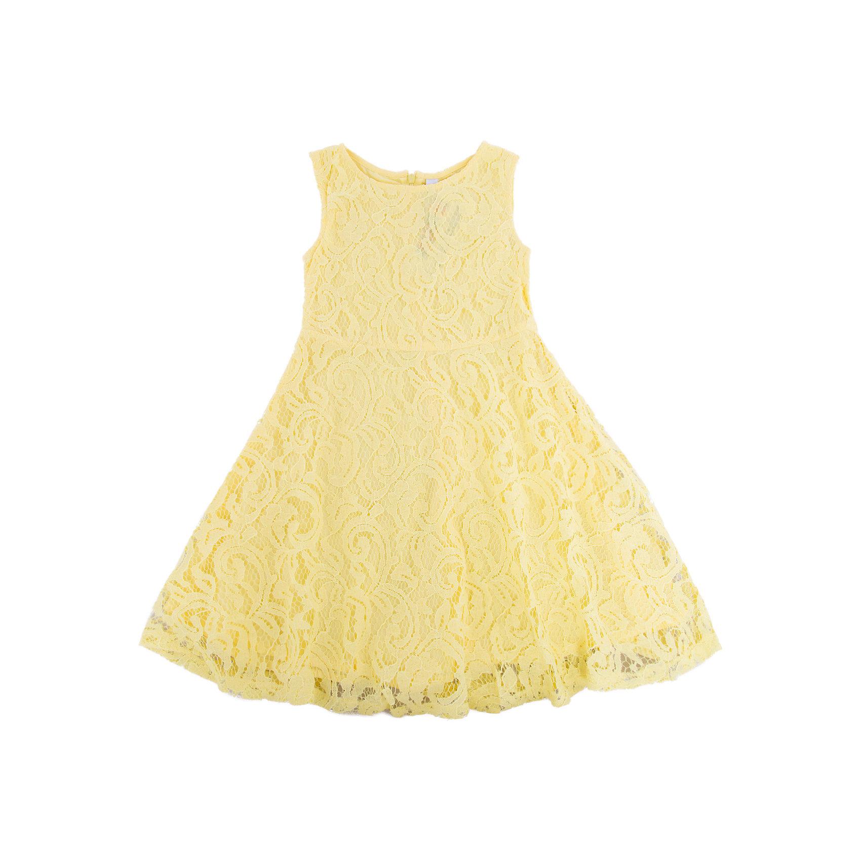 Платье для девочки PlayTodayПлатья и сарафаны<br>Платье для девочки PlayToday<br>Ажурное платье, отрезное по талии, с округлым вырезом у горловины, понравится Вашей моднице. Свободный крой не сковывает движений. Приятная на ощупь ткань не раздражает нежную кожу ребенка. Модель на подкладке из натурального хлопка. Платье будет прекрасным дополнением к детскому летнему гардеробу. <br><br>Преимущества: <br><br>Платье на подкладке из натурального хлопка<br>Мягкая ткань не вызывает раздражений<br>Свободный крой не сковывает движений ребенка<br><br>Состав:<br>Верх: 80% хлопок, 20% полиамид; подкладка: 100% хлопок<br><br>Ширина мм: 236<br>Глубина мм: 16<br>Высота мм: 184<br>Вес г: 177<br>Цвет: желтый<br>Возраст от месяцев: 84<br>Возраст до месяцев: 96<br>Пол: Женский<br>Возраст: Детский<br>Размер: 128,98,104,110,116,122<br>SKU: 5404293