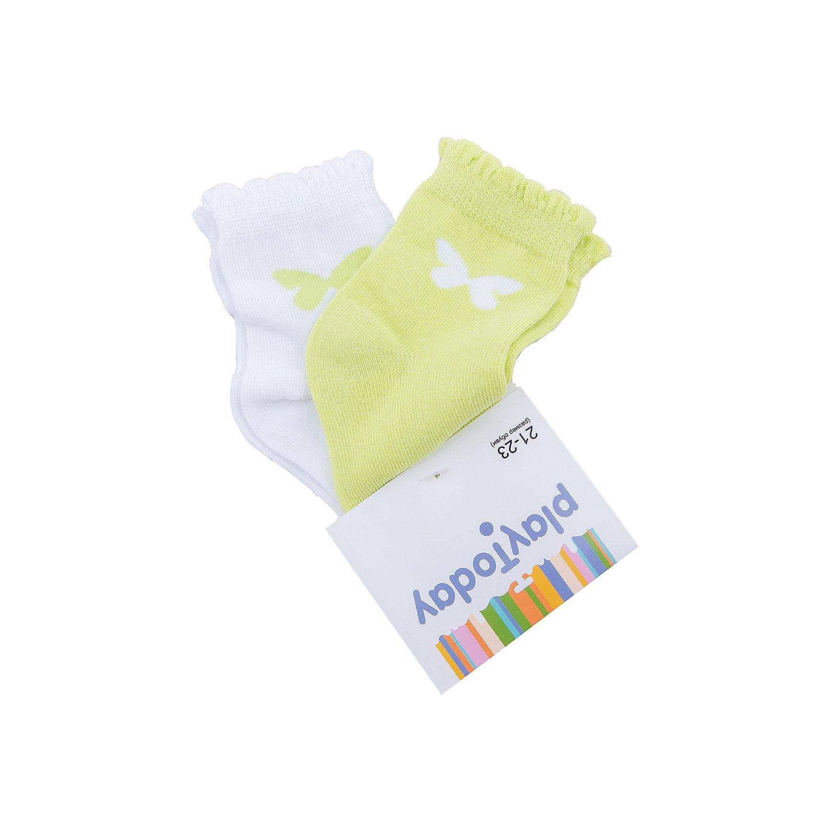 Носки для девочки PlayTodayНоски<br>Носки для девочки PlayToday<br>Носки очень мягкие, из качественных материалов, приятны к телу и не сковывают движений. Хорошо пропускают воздух, тем самым позволяя коже дышать.  Даже частые стирки, при условии соблюдений рекомендаций по уходу, не изменят ни форму, ни цвет изделий. <br><br>Преимущества: <br><br>Мягкие, выполненные из натуральных материалов, приятны к телу, не сковывают движений<br>Хорошо пропускают воздух, позволяя тем самым коже дышать<br>Даже частые стирки, при условии соблюдений рекомендаций по уходу, не изменят ни форму, ни цвет изделия<br><br>Состав:<br>75% хлопок, 22% нейлон, 3% эластан<br><br>Ширина мм: 87<br>Глубина мм: 10<br>Высота мм: 105<br>Вес г: 115<br>Цвет: желтый<br>Возраст от месяцев: 84<br>Возраст до месяцев: 96<br>Пол: Женский<br>Возраст: Детский<br>Размер: 18,14,16<br>SKU: 5404363