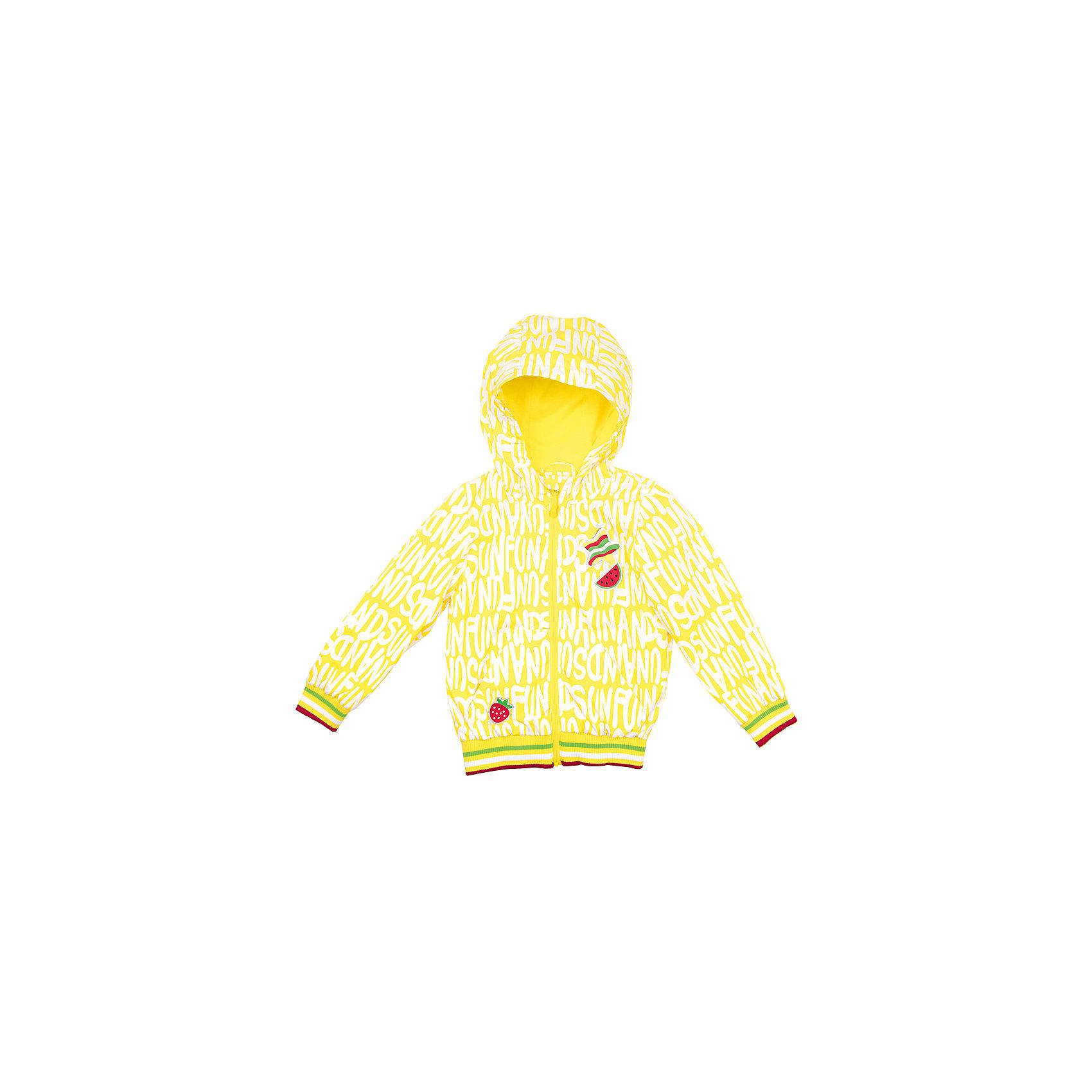 Куртка для девочки PlayTodayСицилия<br>Куртка для девочки PlayToday<br>Практичная куртка со специальной водоотталкивающей пропиткой защитит Вашего ребенка в любую погоду! Специальный карман для фиксации застежки-молнии не позволит застежке травмировать нежную кожу ребенка. Мягкие  резинки на рукавах и по низу изделия защитят Вашего ребенка - ветер не сможет проникнуть под куртку.  Модель с резинкой на капюшоне - даже во время активных игр капюшон не упадет с головы ребенка. Модель на подкладке из натуральных тканей.Преимущества: Водоооталкивающая тканьМодель с резинкой на капюшоне.Защита подбородка. Специальный карман для фиксации застежки - молнии не позволит застежке травмировать нежную кожу ребенка<br>Состав:<br>Верх: 100% полиэстер, подкладка: 60% хлопок, 40% полиэстер<br><br>Ширина мм: 356<br>Глубина мм: 10<br>Высота мм: 245<br>Вес г: 519<br>Цвет: светло-желтый<br>Возраст от месяцев: 84<br>Возраст до месяцев: 96<br>Пол: Женский<br>Возраст: Детский<br>Размер: 98,104,110,122,128,116<br>SKU: 5404382