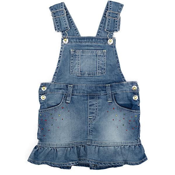 Сарафан джинсовый для девочки PlayTodayДжинсовая одежда<br>Характеристики товара:<br><br>• цвет: синий<br>• состав: 78% хлопок, 20% полиэстер, 2% эластан<br>• регулируемые лямки<br>• дышащий материал<br>• стразы<br>• эффект потертостей<br>• комфортная посадка<br>• коллекция: весна-лето 2017<br>• страна бренда: Германия<br>• страна производства: Китай<br><br>Популярный бренд PlayToday выпустил новую коллекцию! Вещи из неё продолжают радовать покупателей удобством, стильным дизайном и продуманным кроем. Дети носят их с удовольствием. PlayToday - это линейка товаров, созданная специально для детей. Дизайнеры учитывают новые веяния моды и потребности детей. Порадуйте ребенка обновкой от проверенного производителя!<br>Такая стильная модель обеспечит ребенку комфорт благодаря качественному материалу и продуманному крою. С помощью неё можно удобно одеться по погоде. Очень модная вещь! Выглядит нарядно и аккуратно.<br><br>Сарафан для девочки от известного бренда PlayToday можно купить в нашем интернет-магазине.<br><br>Ширина мм: 236<br>Глубина мм: 16<br>Высота мм: 184<br>Вес г: 177<br>Цвет: голубой<br>Возраст от месяцев: 48<br>Возраст до месяцев: 60<br>Пол: Женский<br>Возраст: Детский<br>Размер: 110,98,128,122,116,104<br>SKU: 5404403