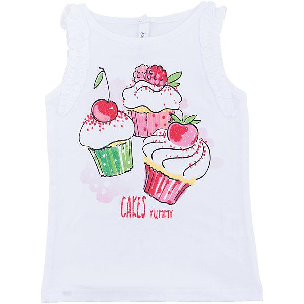 Майка для девочки PlayTodayФутболки, поло и топы<br>Характеристики товара:<br><br>• цвет: разноцветный<br>• состав: 95% хлопок, 5% эластан<br>• принт<br>• дышащий материал<br>• эластичный трикотаж<br>• комфортная посадка<br>• коллекция: весна-лето 2017<br>• страна бренда: Германия<br>• страна производства: Китай<br><br>Популярный бренд PlayToday выпустил новую коллекцию! Вещи из неё продолжают радовать покупателей удобством, стильным дизайном и продуманным кроем. Дети носят их с удовольствием. PlayToday - это линейка товаров, созданная специально для детей. Дизайнеры учитывают новые веяния моды и потребности детей. Порадуйте ребенка обновкой от проверенного производителя!<br>Такая стильная модель обеспечит ребенку комфорт благодаря качественному материалу и продуманному крою. С помощью неё можно удобно одеться по погоде. Очень модная вещь! Отлично подходит для переменной погоды межсезонья или теплого лета.<br><br>Топ для девочки от известного бренда PlayToday можно купить в нашем интернет-магазине.<br><br>Ширина мм: 199<br>Глубина мм: 10<br>Высота мм: 161<br>Вес г: 151<br>Цвет: белый<br>Возраст от месяцев: 24<br>Возраст до месяцев: 36<br>Пол: Женский<br>Возраст: Детский<br>Размер: 98,128,122,116,110,104<br>SKU: 5404473