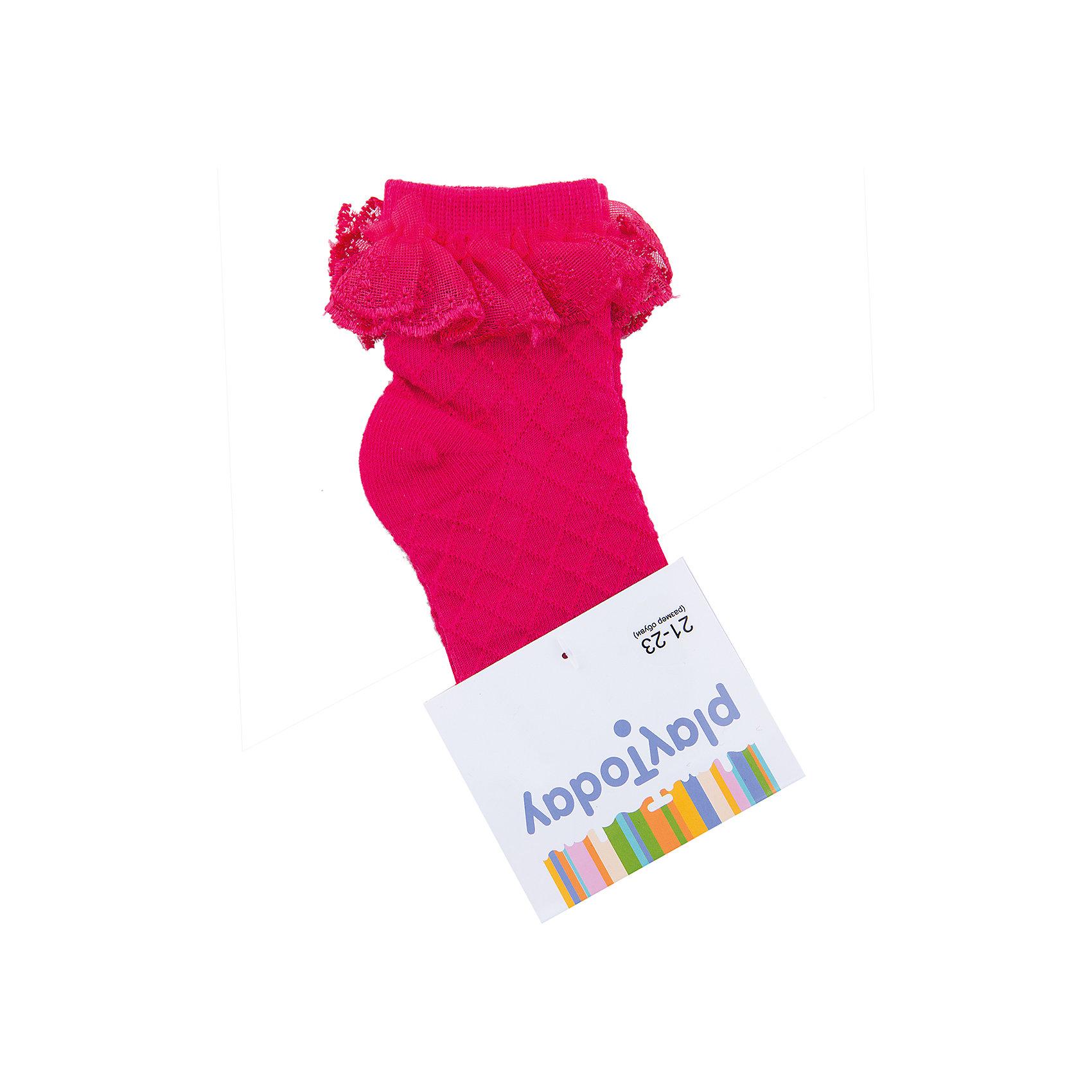 Носки для девочки PlayTodayНоски для девочки PlayToday<br>Носки очень мягкие, из качественных материалов, приятны к телу и не сковывают движений. Хорошо пропускают воздух, тем самым позволяя коже дышать.  Даже частые стирки, при условии соблюдений рекомендаций по уходу, не изменят ни форму, ни цвет изделий.Преимущества: Мягкие, выполненные из натуральных материалов, приятны к телу, не сковывают движенийХорошо пропускают воздух, позволяя тем самым коже дышатьДаже частые стирки, при условии соблюдений рекомендаций по уходу, не изменят ни форму, ни цвет изделия<br>Состав:<br>75% хлопок, 22% нейлон, 3% эластан<br><br>Ширина мм: 87<br>Глубина мм: 10<br>Высота мм: 105<br>Вес г: 115<br>Цвет: розовый<br>Возраст от месяцев: 84<br>Возраст до месяцев: 96<br>Пол: Женский<br>Возраст: Детский<br>Размер: 18,14,16<br>SKU: 5404537